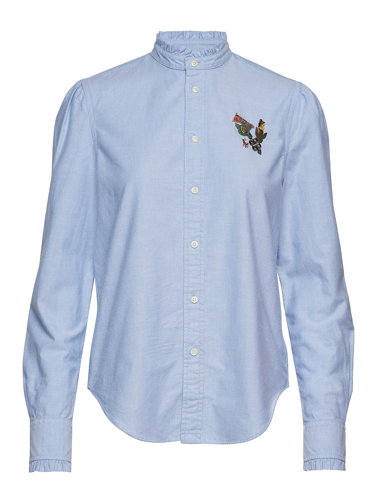 Polo Ralph Lauren Cotton Oxford Pin Shirt - BLUE HYACINTH