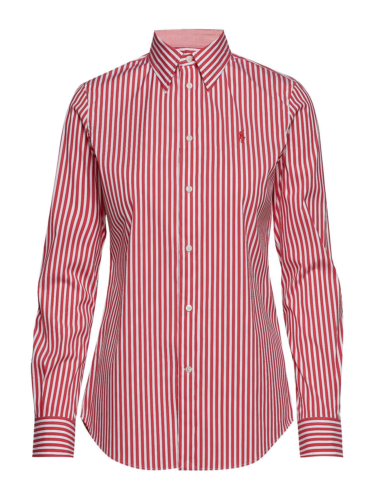 Polo Ralph Lauren Stretch Slim Fit Striped Shirt - 952J WHITE/CACTUS