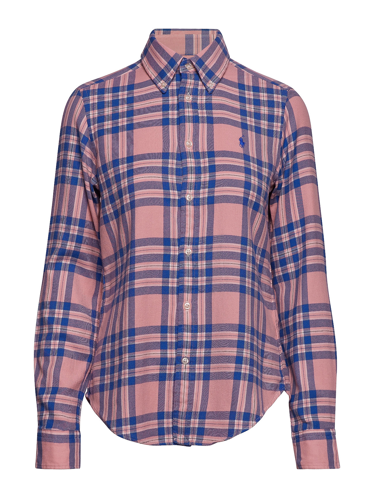 Polo Ralph Lauren Classic Fit Plaid Twill Shirt - 216A PINK/BLUE