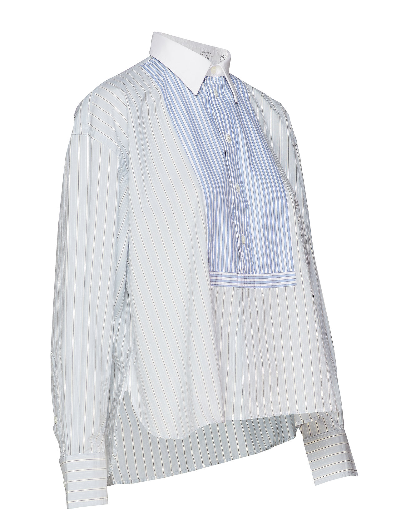 Shirt212 wPolo Lauren Striped Blue Boxy Fit Ralph Medium D2EIH9