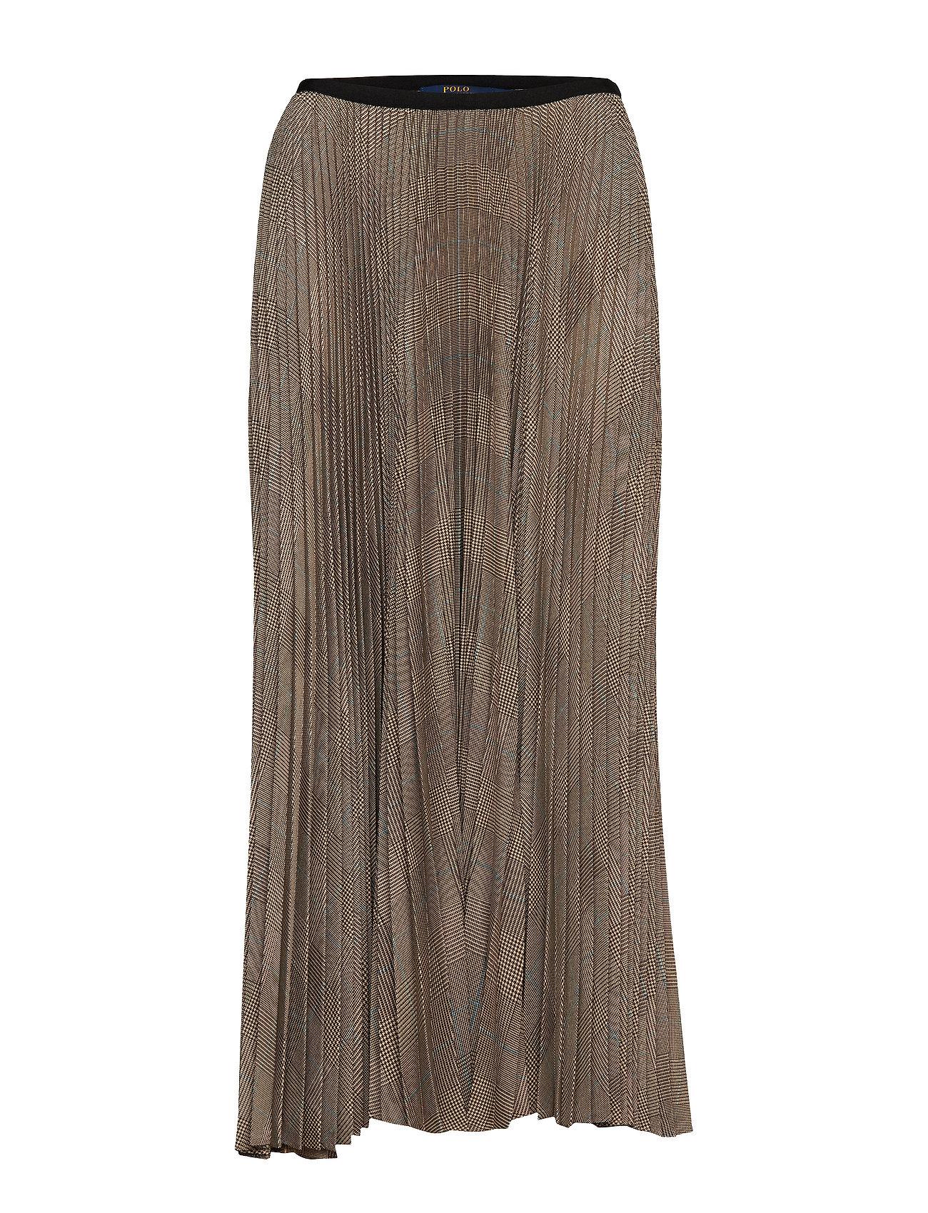 Polo Ralph Lauren Plaid Pleated Midi Skirt - SMALL GLEN PLAID