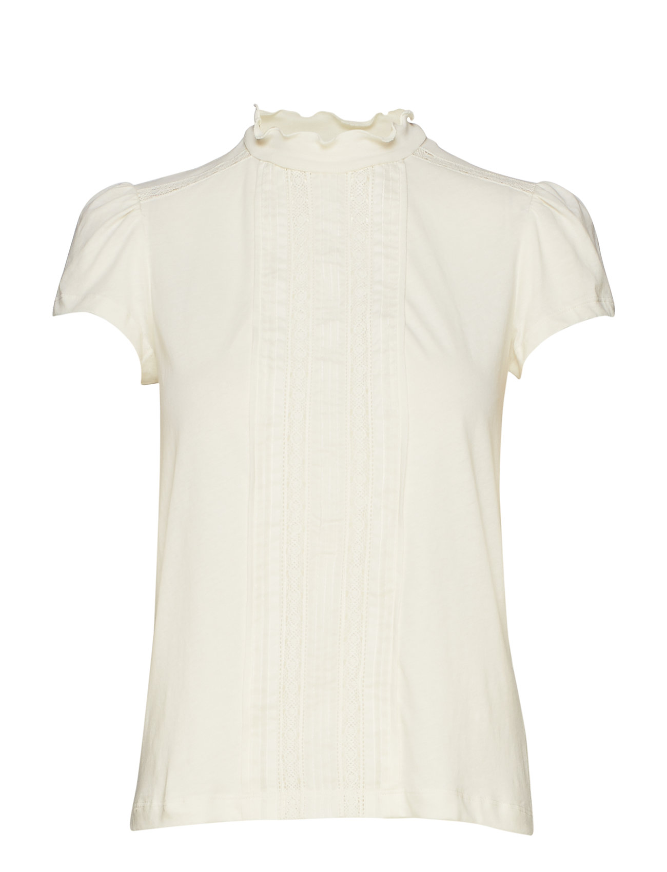 Polo Ralph Lauren Lace-Inset Jersey Tee