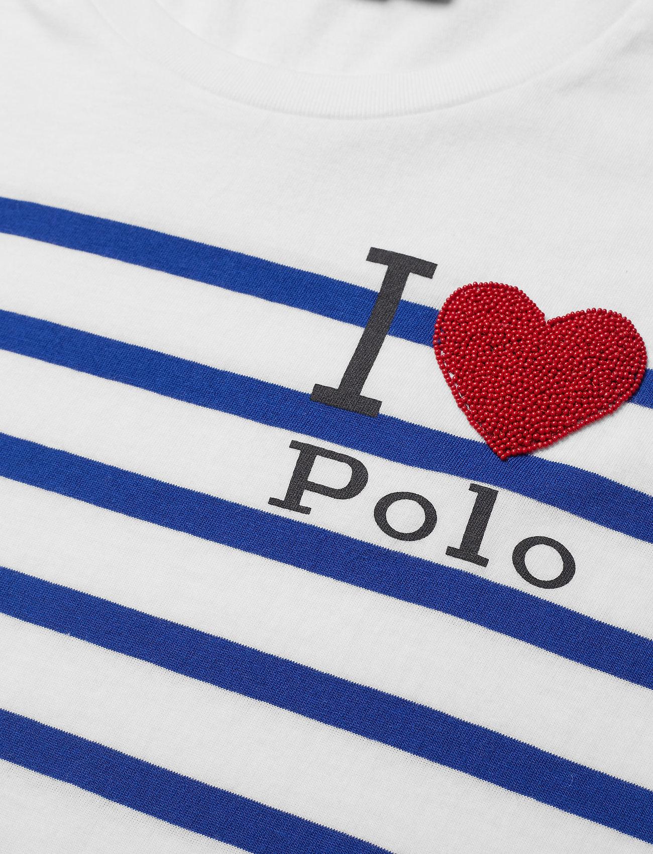 Polo Striped Graphic T-shirt (White/sistine Blu) (479.60 kr) - Polo Ralph Lauren