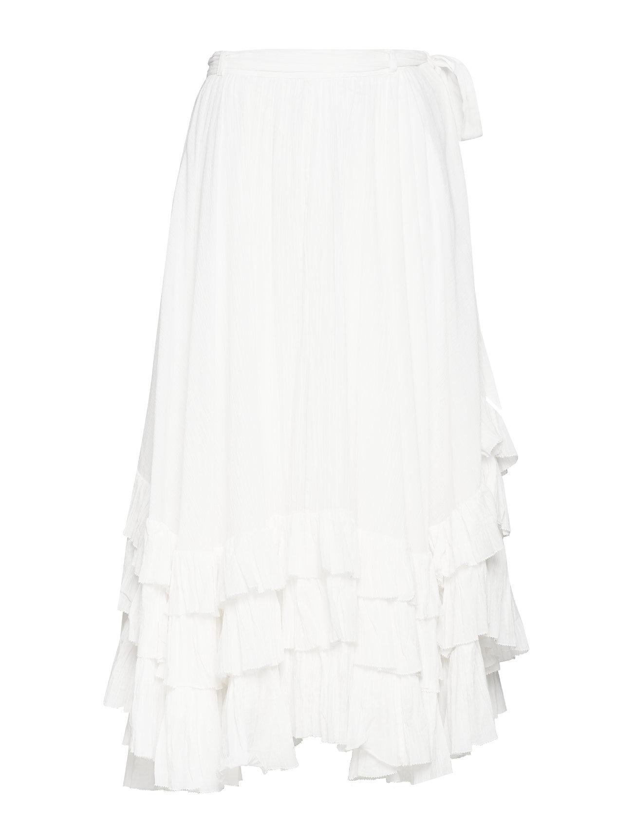 Polo Ralph Lauren Belted Cotton Crinkle Skirt