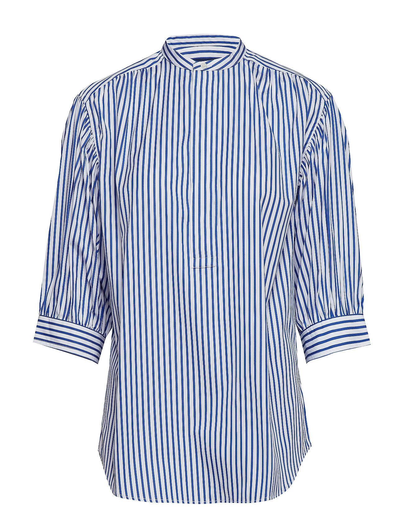 Polo Ralph Lauren Striped Cotton Shirt - 814 BLUE/WHITE