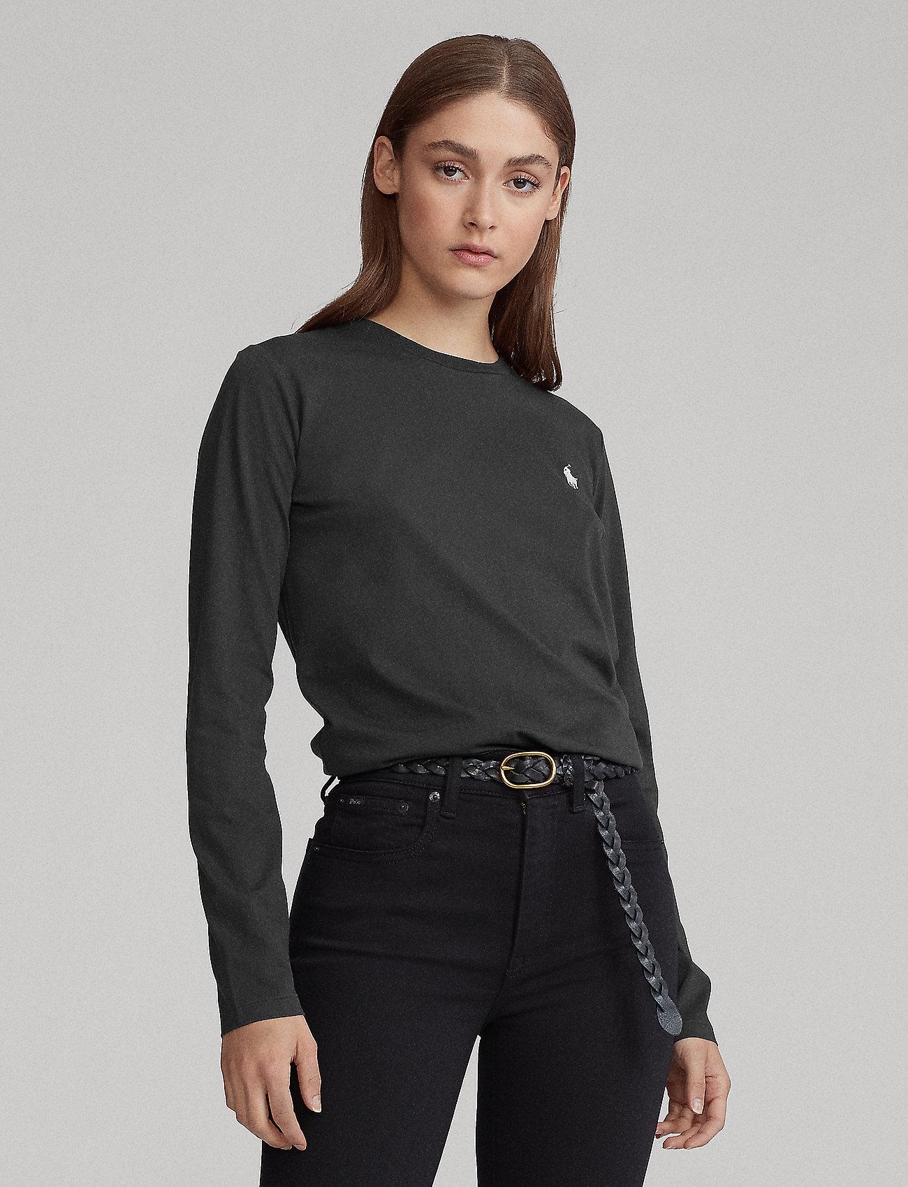 Polo Ralph Lauren - Jersey Long-Sleeve Shirt - langærmede toppe - polo black - 0
