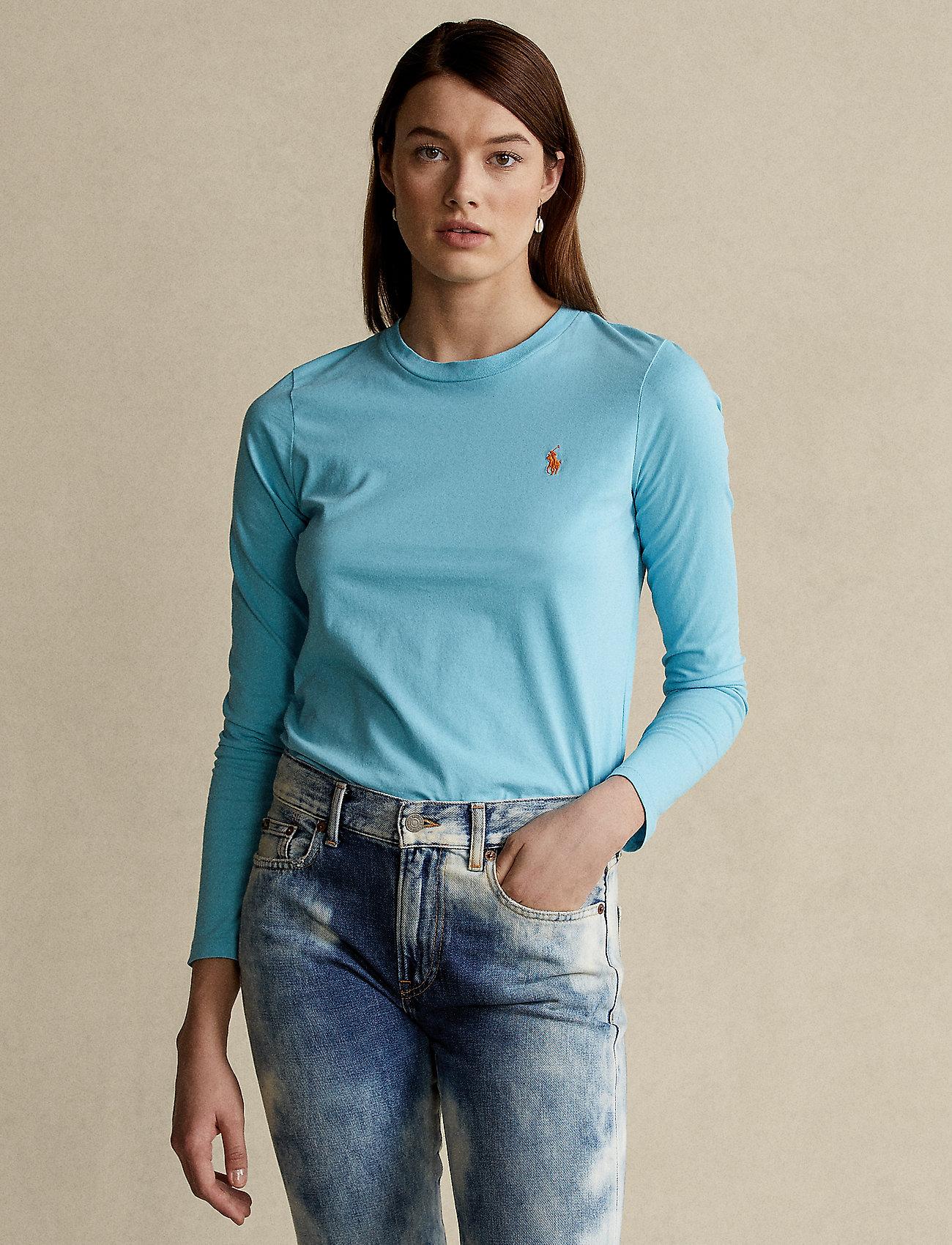 Polo Ralph Lauren - Jersey Long-Sleeve Shirt - langærmede toppe - sailing turquise - 0