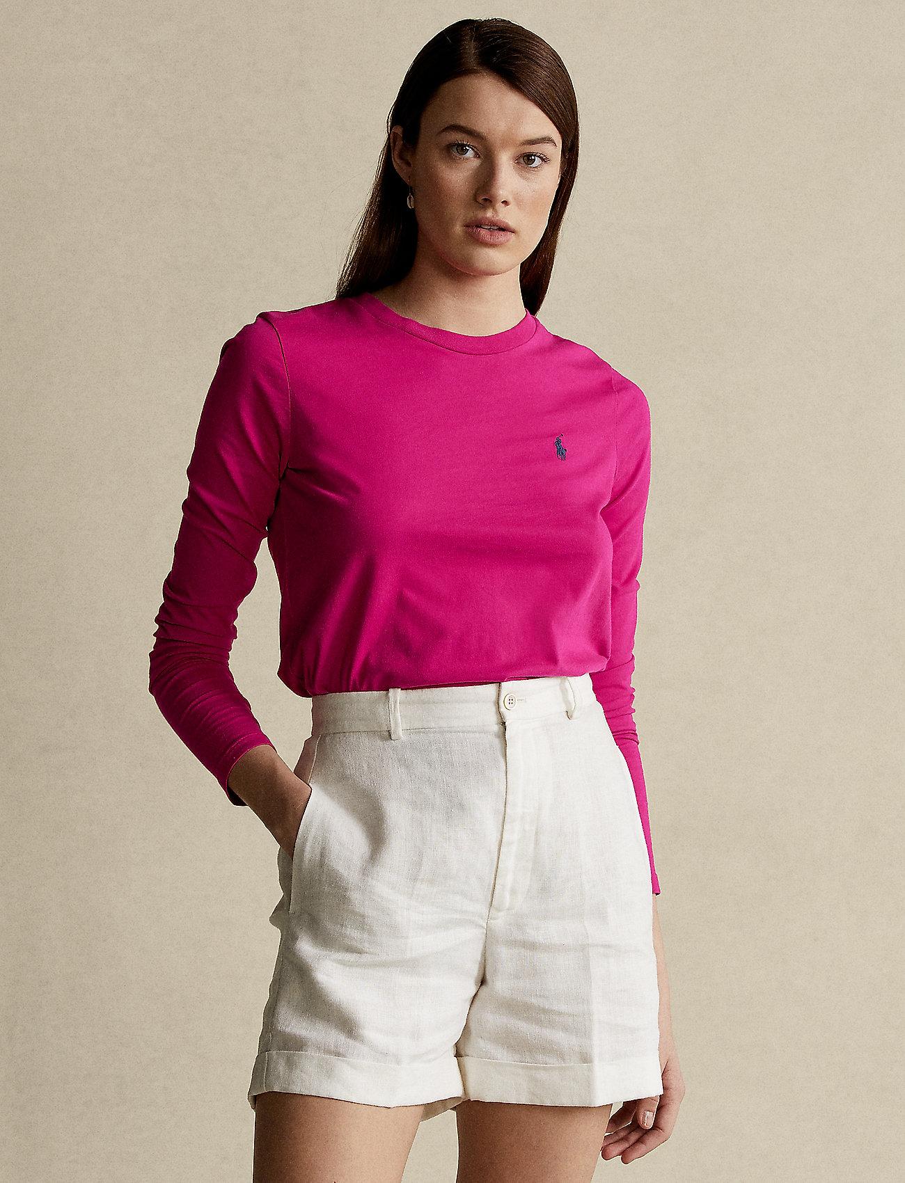 Polo Ralph Lauren - Jersey Long-Sleeve Shirt - langærmede toppe - sport pink - 0