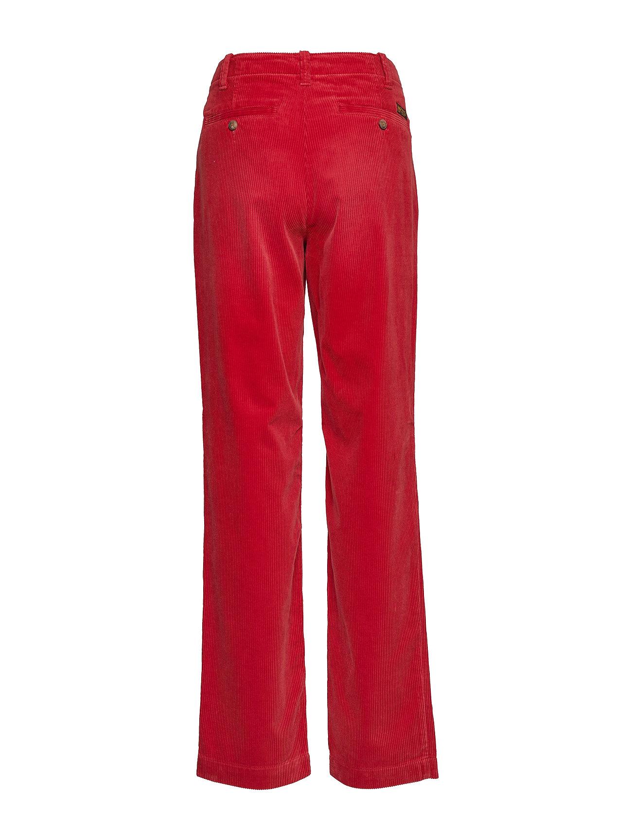 Corduroy Lauren RedPolo Cotton Ralph Straight Pantnew 35RAj4Lq