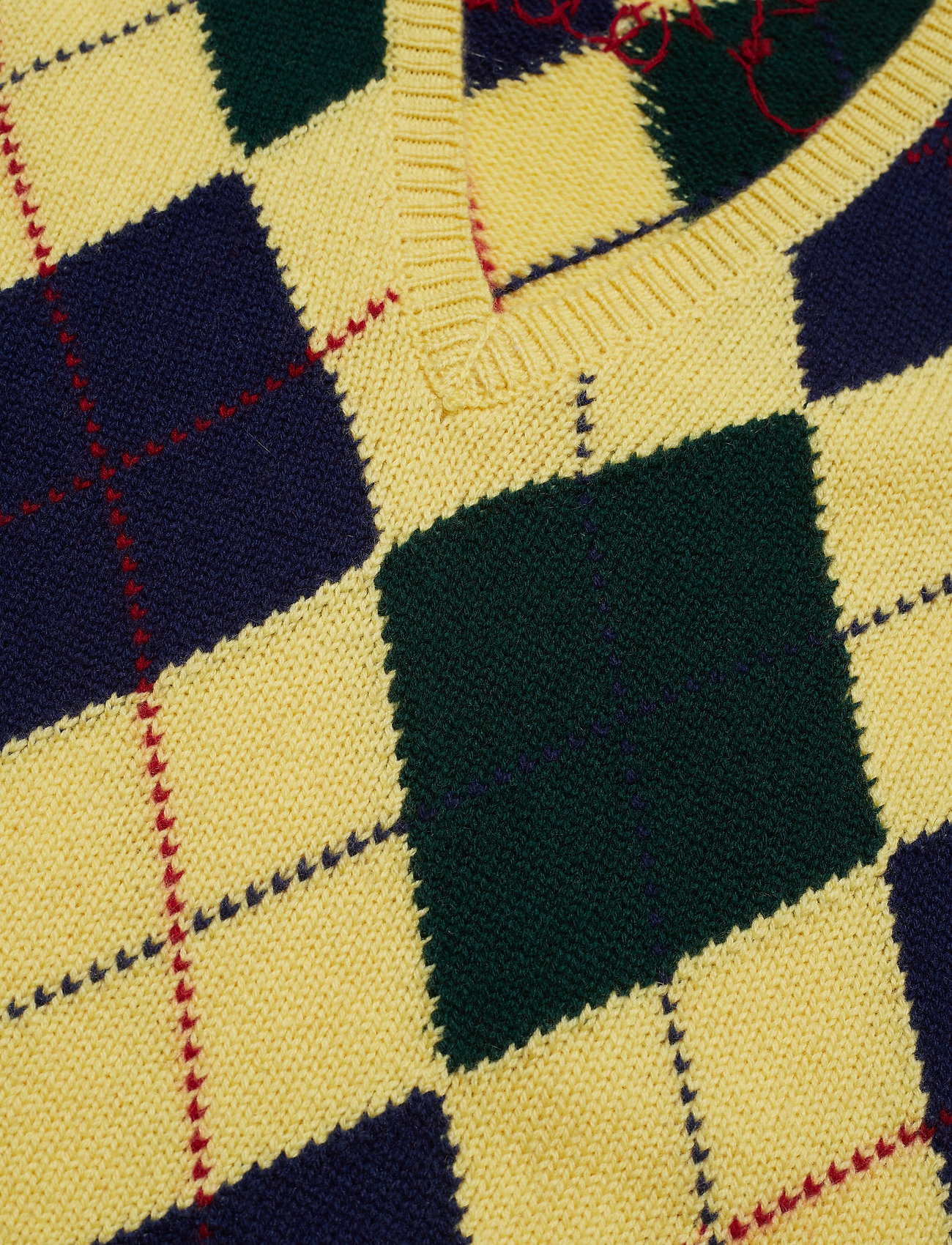 Argyle Sweater Vest (Yellow Multi) (1264.45 kr) - Polo Ralph Lauren