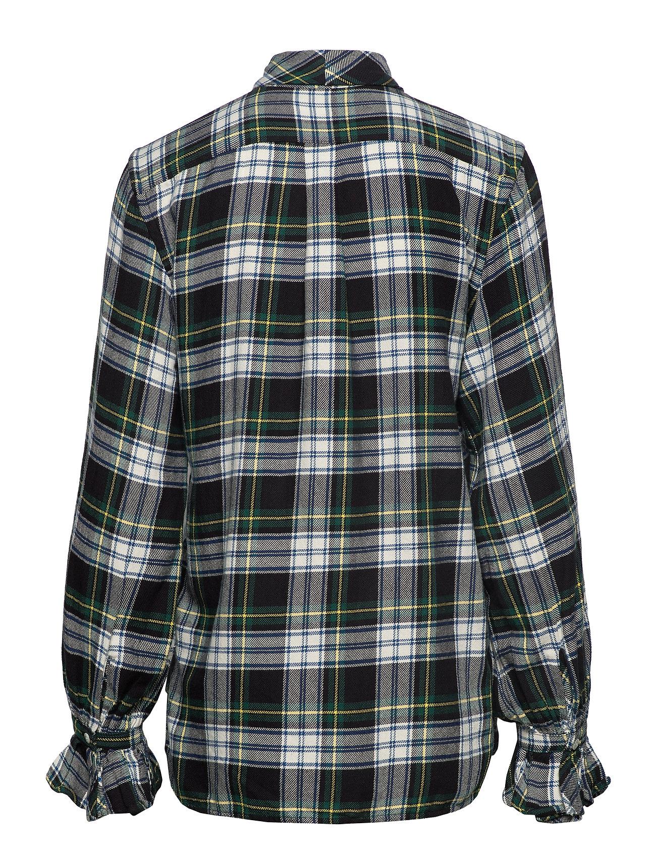 creamPolo Necktie Plaid Cotton Ralph Green Lauren Shirt406 dhsrtQ