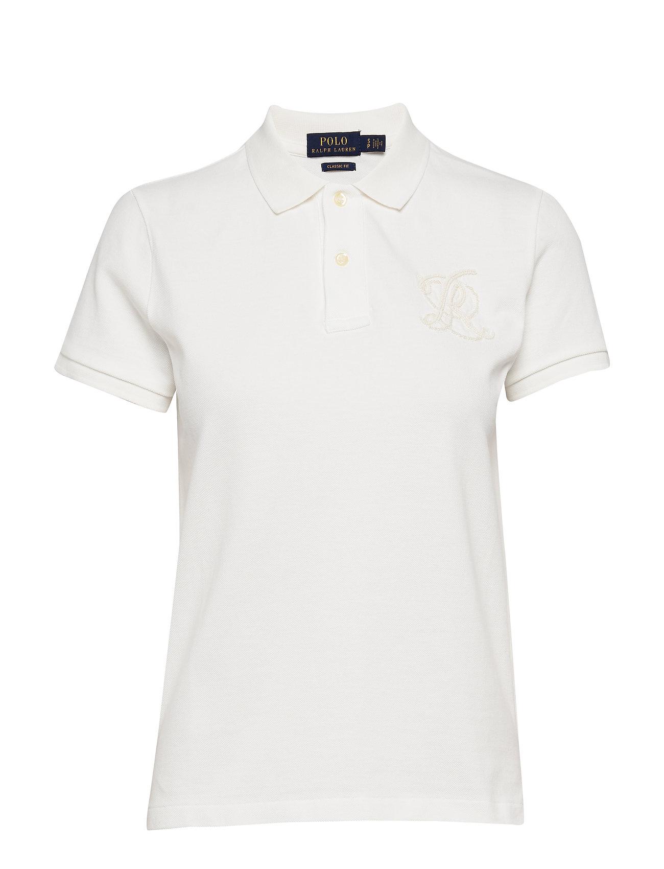 Polo Ralph Lauren Classic Fit Beaded Polo Shirt - DECKWASH WHITE