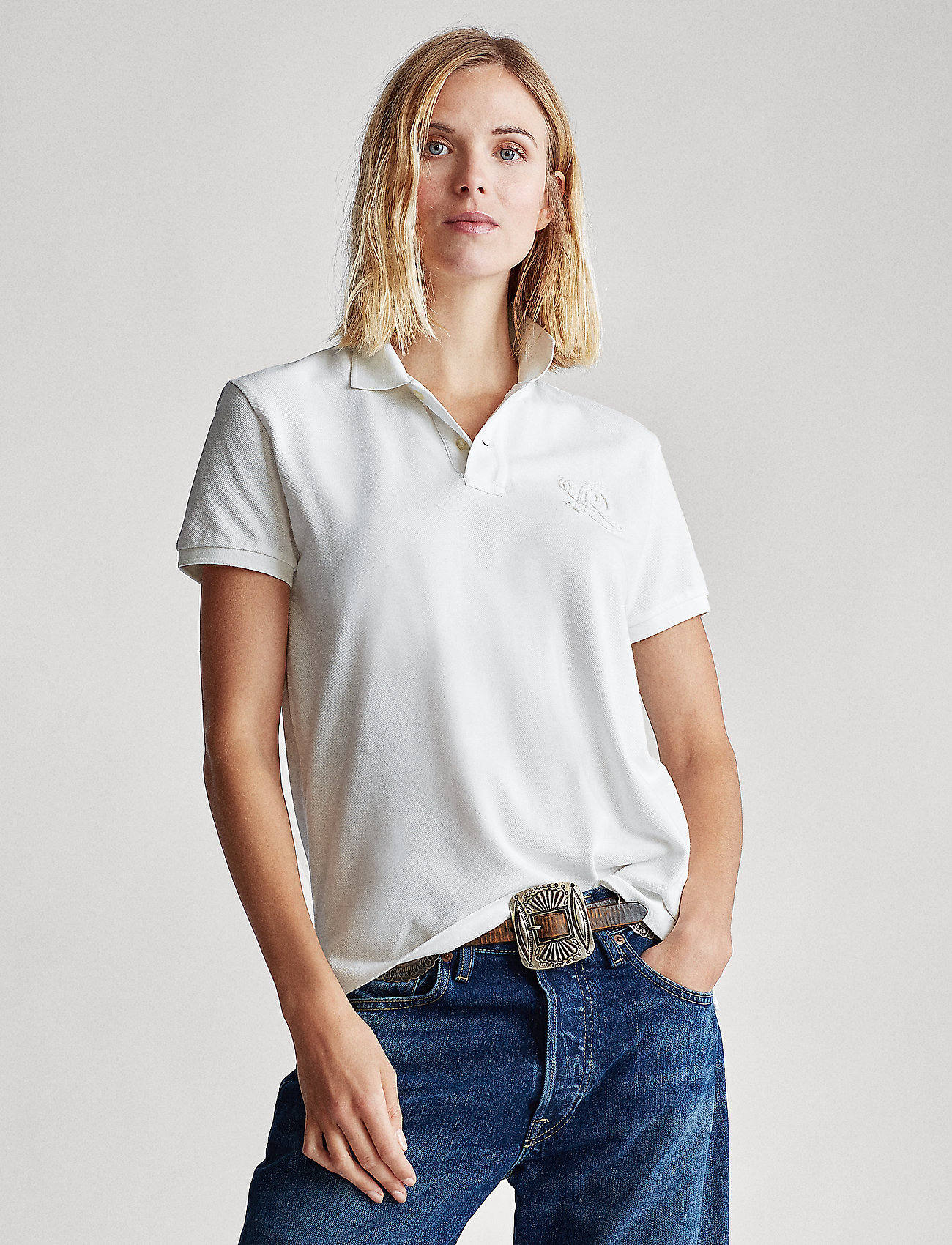 Polo Ralph Lauren - Classic Fit Beaded Polo Shirt - pikeepaidat - deckwash white - 0