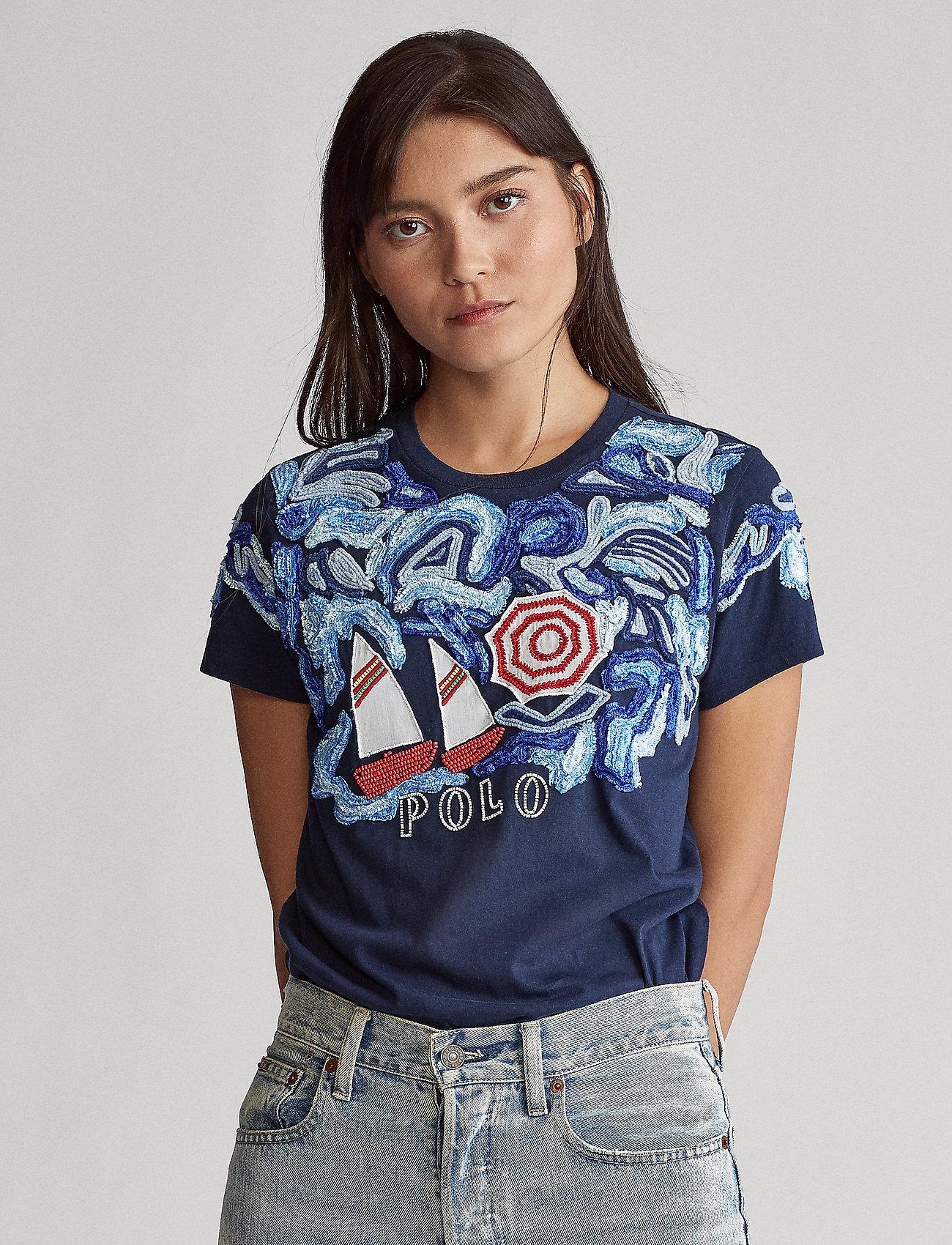 Polo Ralph Lauren - Sailboat Jersey Tee - printed t-shirts - cruise navy - 0