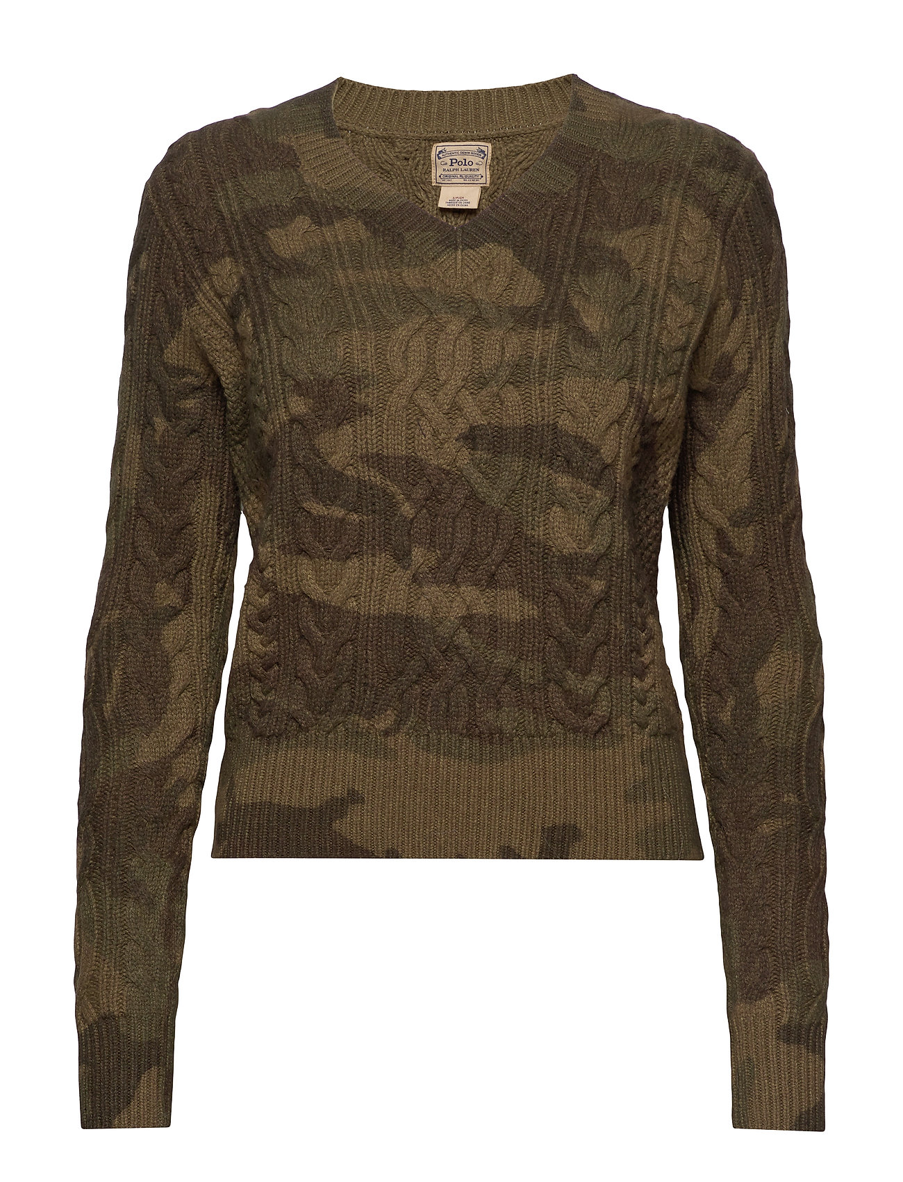 Polo Ralph Lauren Camo Cable-Knit Sweater - CAMO