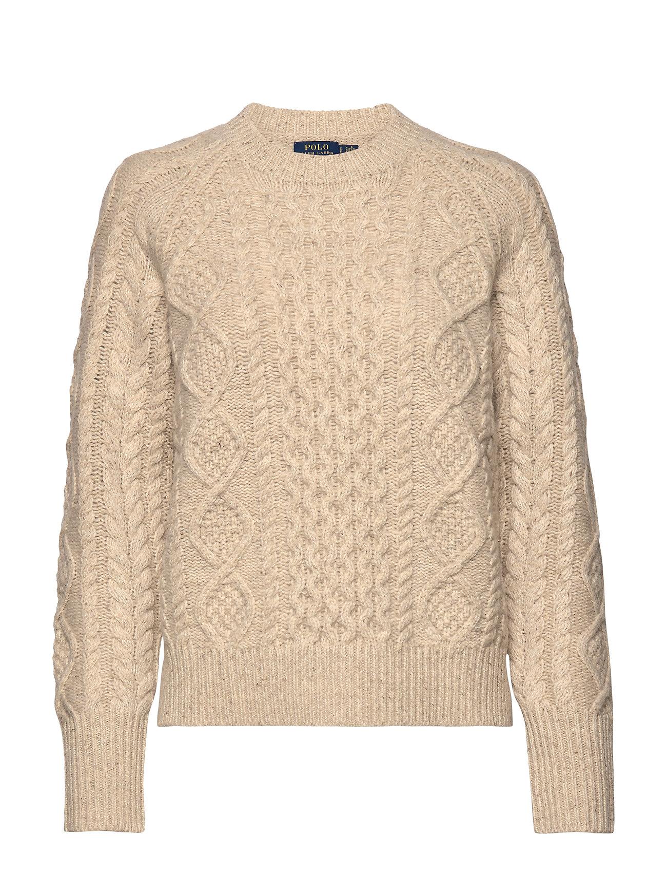 Polo Ralph Lauren Aran-Knit Wool-Blend Sweater - OATMEAL