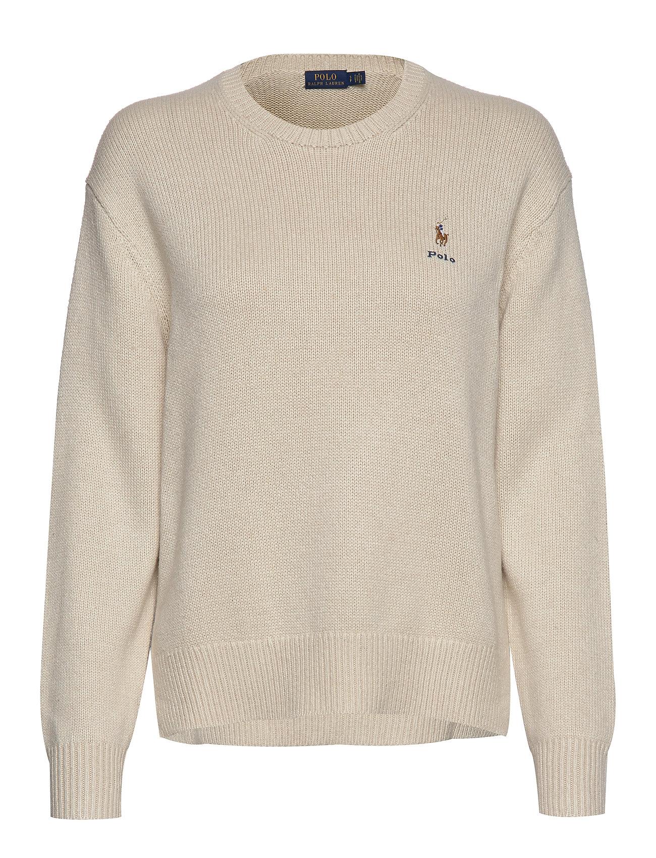 Polo Ralph Lauren Silk Crewneck Sweater - DARK ENGLISH CREA