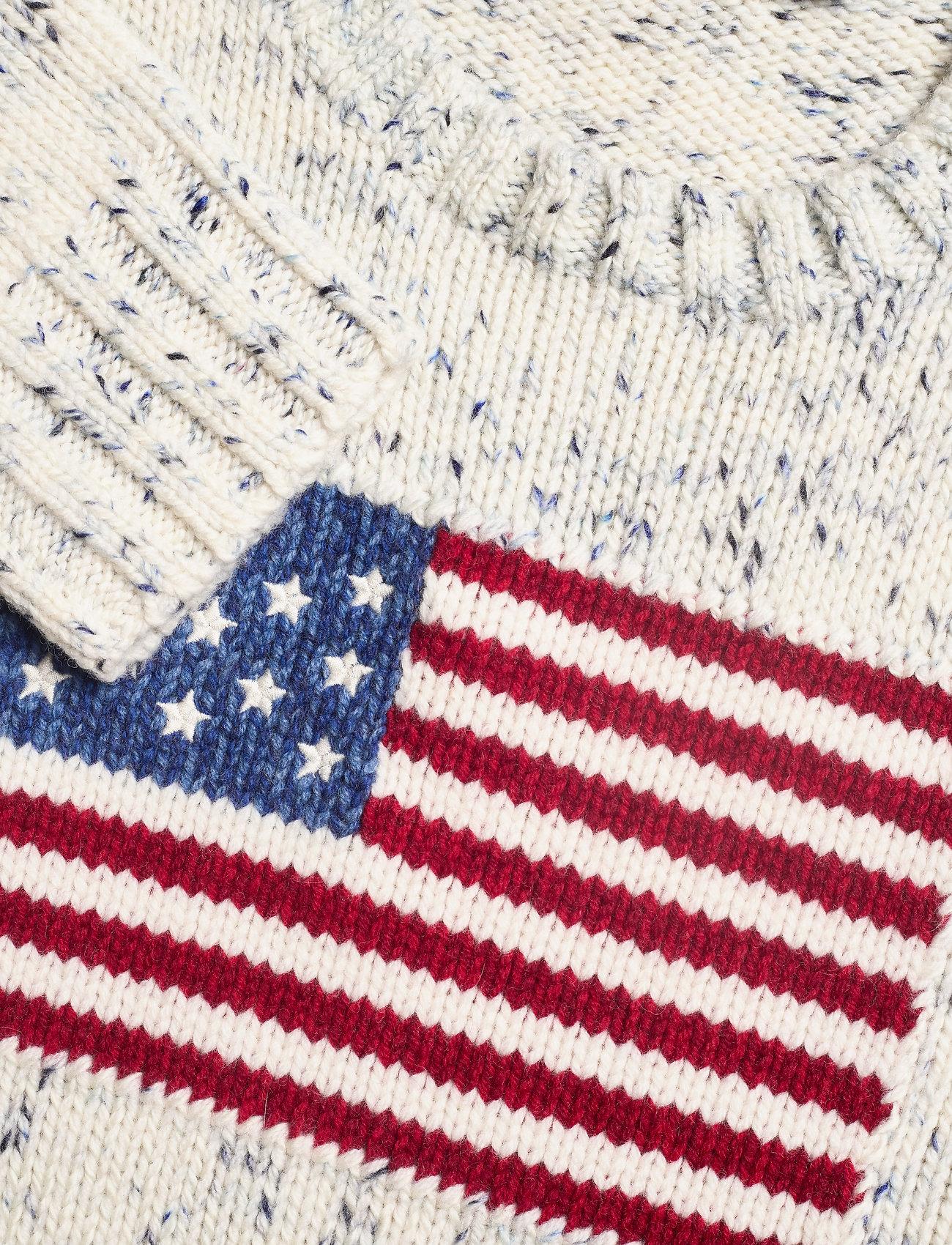 Polo Ralph Lauren Flag Wool Sweater - Dzianina MULTI - Kobiety Odzież.