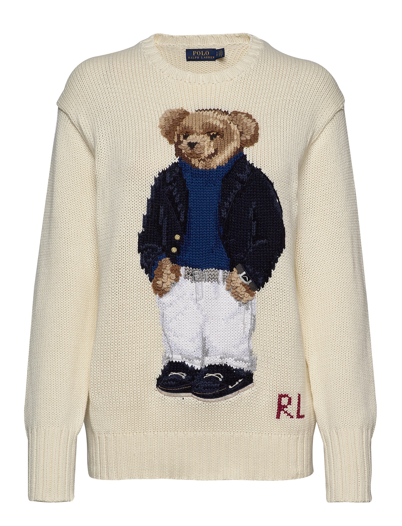 Polo Ralph Lauren Polo Bear Crewneck Sweater - CREAM MULTI
