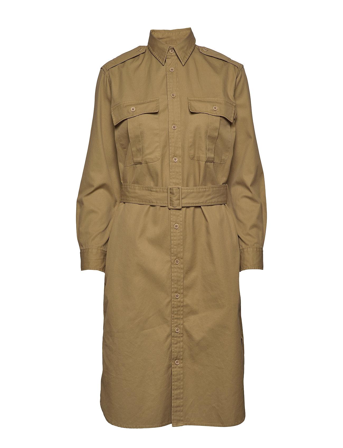 Polo Ralph Lauren Cotton Twill Shirtdress - DESERT TAN