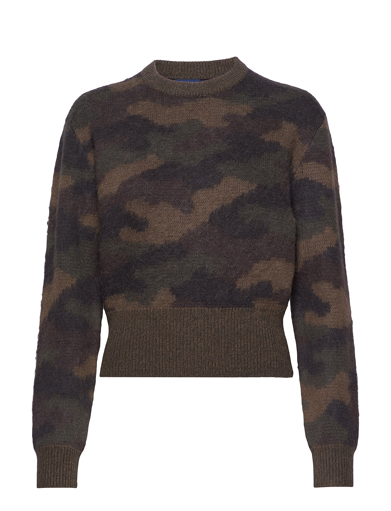Polo Ralph Lauren Camo-Print Wool Sweater - CAMO