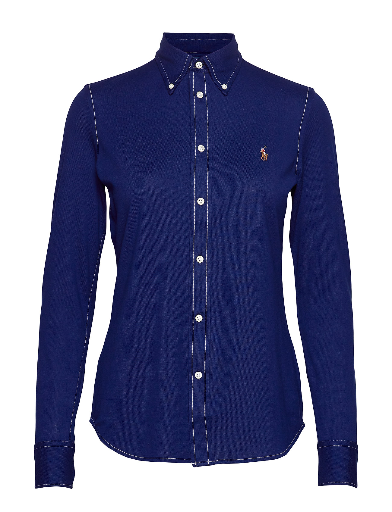 Polo Ralph Lauren Cotton Knit Oxford Shirt - HOLIDAY NAVY