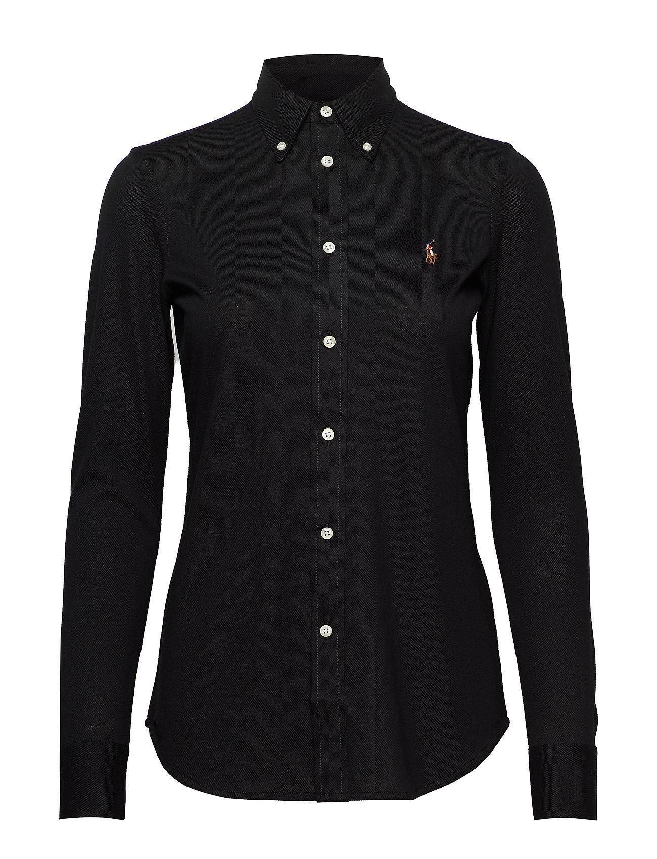 Polo Ralph Lauren Cotton Knit Oxford Shirt - POLO BLACK