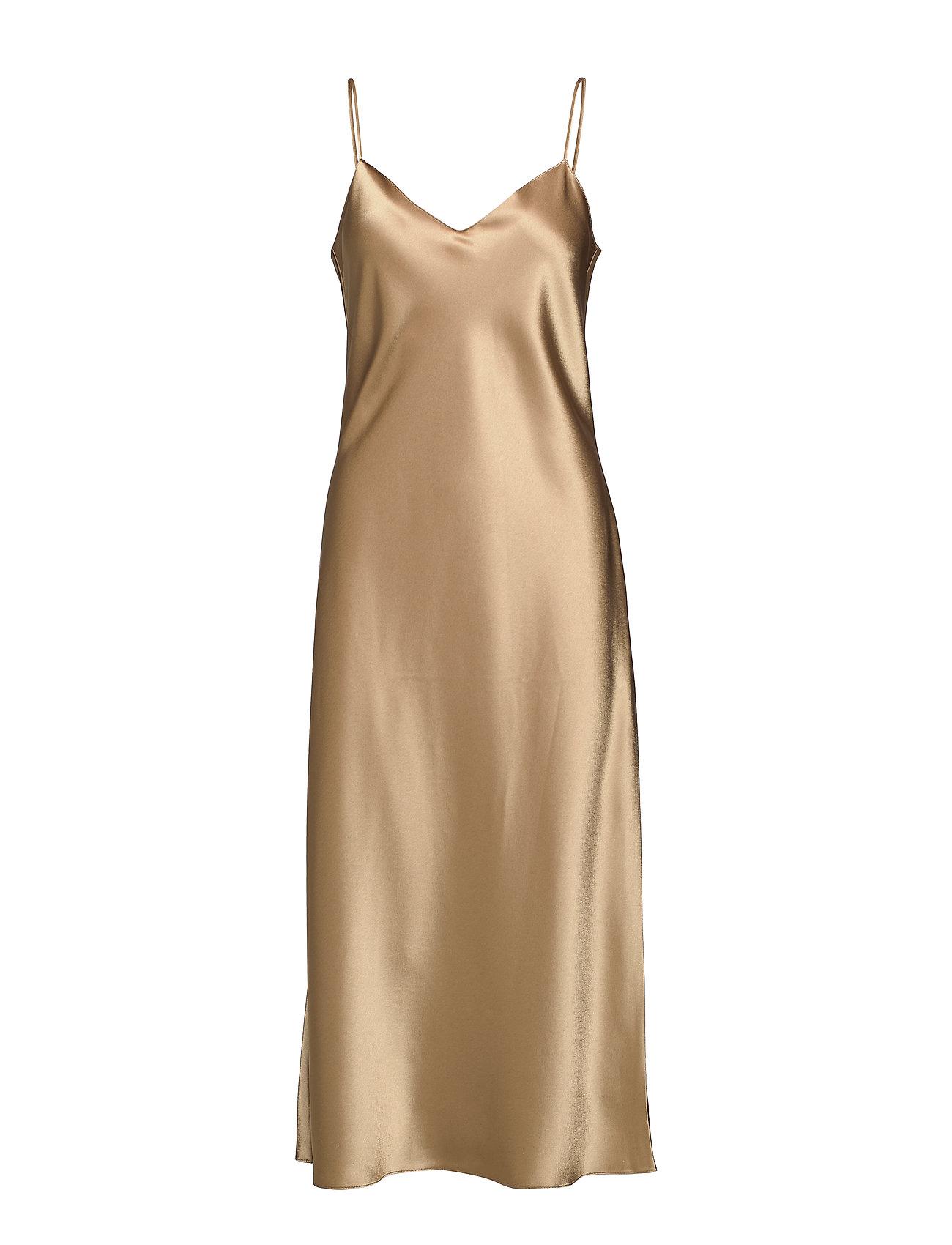 Polo Ralph Lauren Satin Slip Dress - MONTANA KHAKI