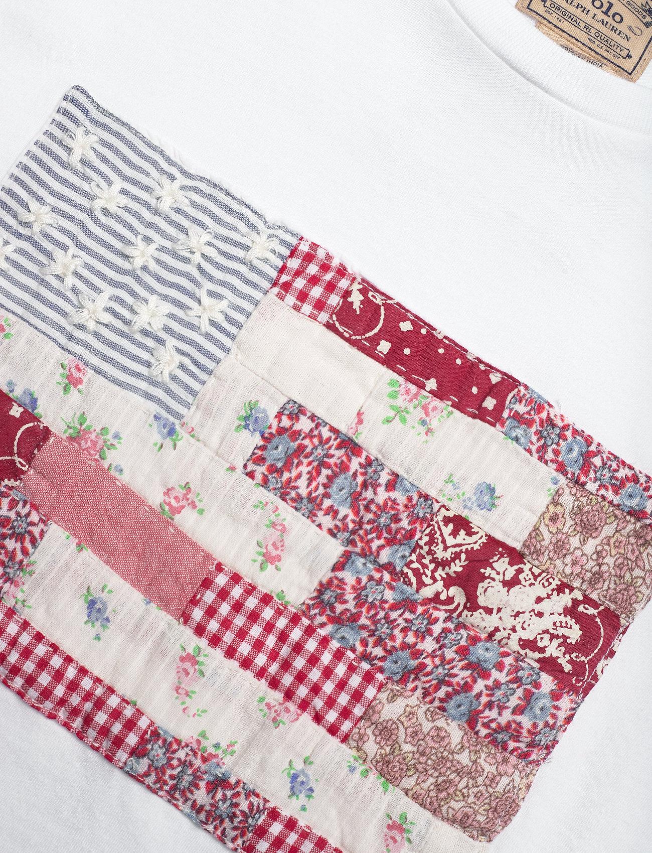 Polo Ralph Lauren Patchwork Flag Cotton Tee - T-shirts & Toppar