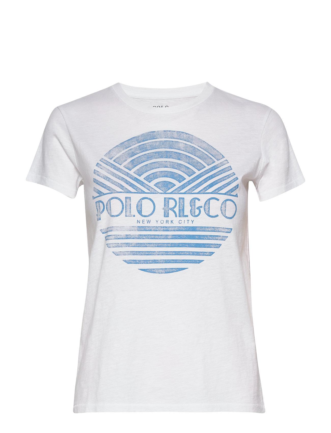 Polo Ralph Lauren Cotton Jersey Graphic Tee - WHITE