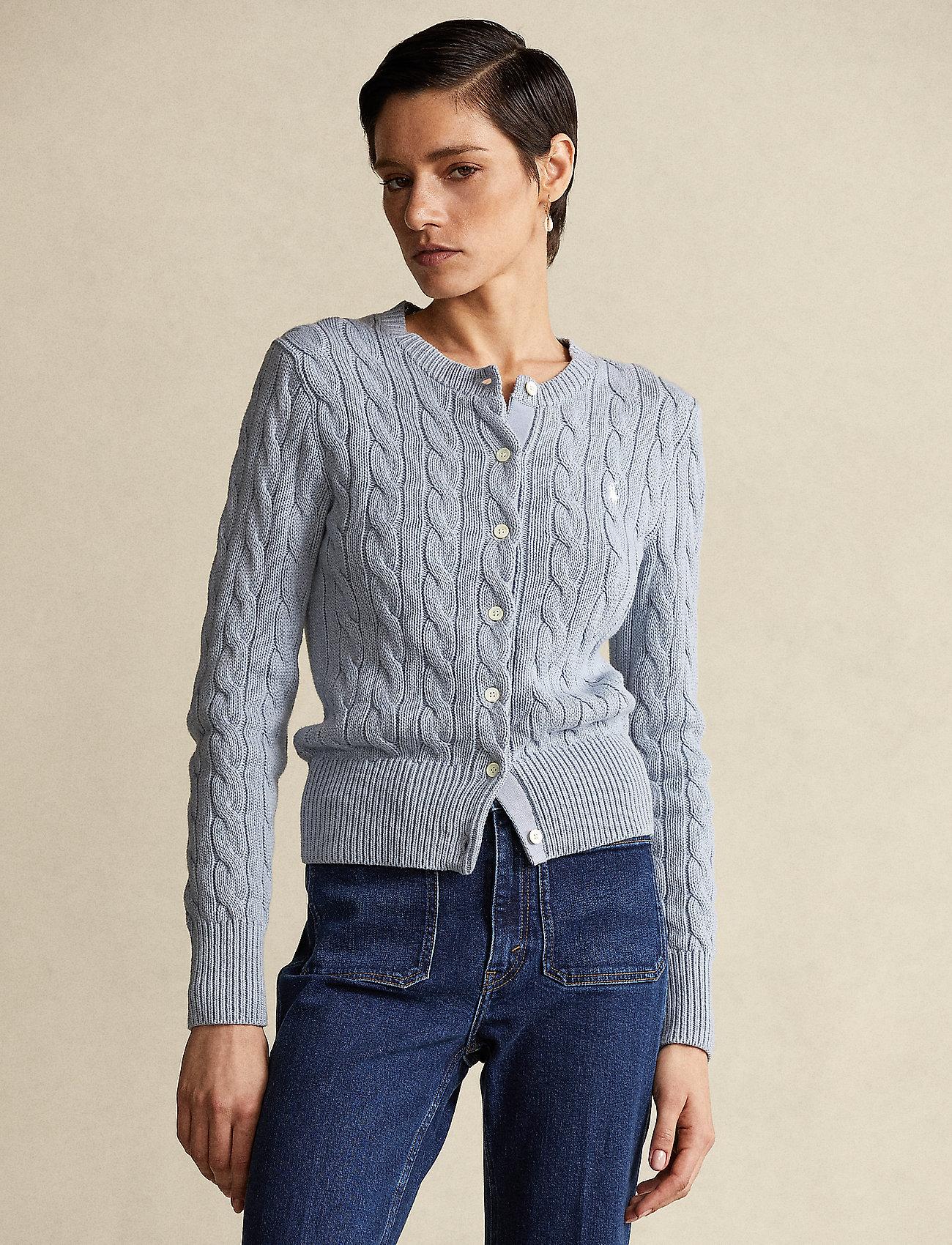 Polo Ralph Lauren - Cable-Knit Cotton Cardigan - cardigans - pale blue - 0