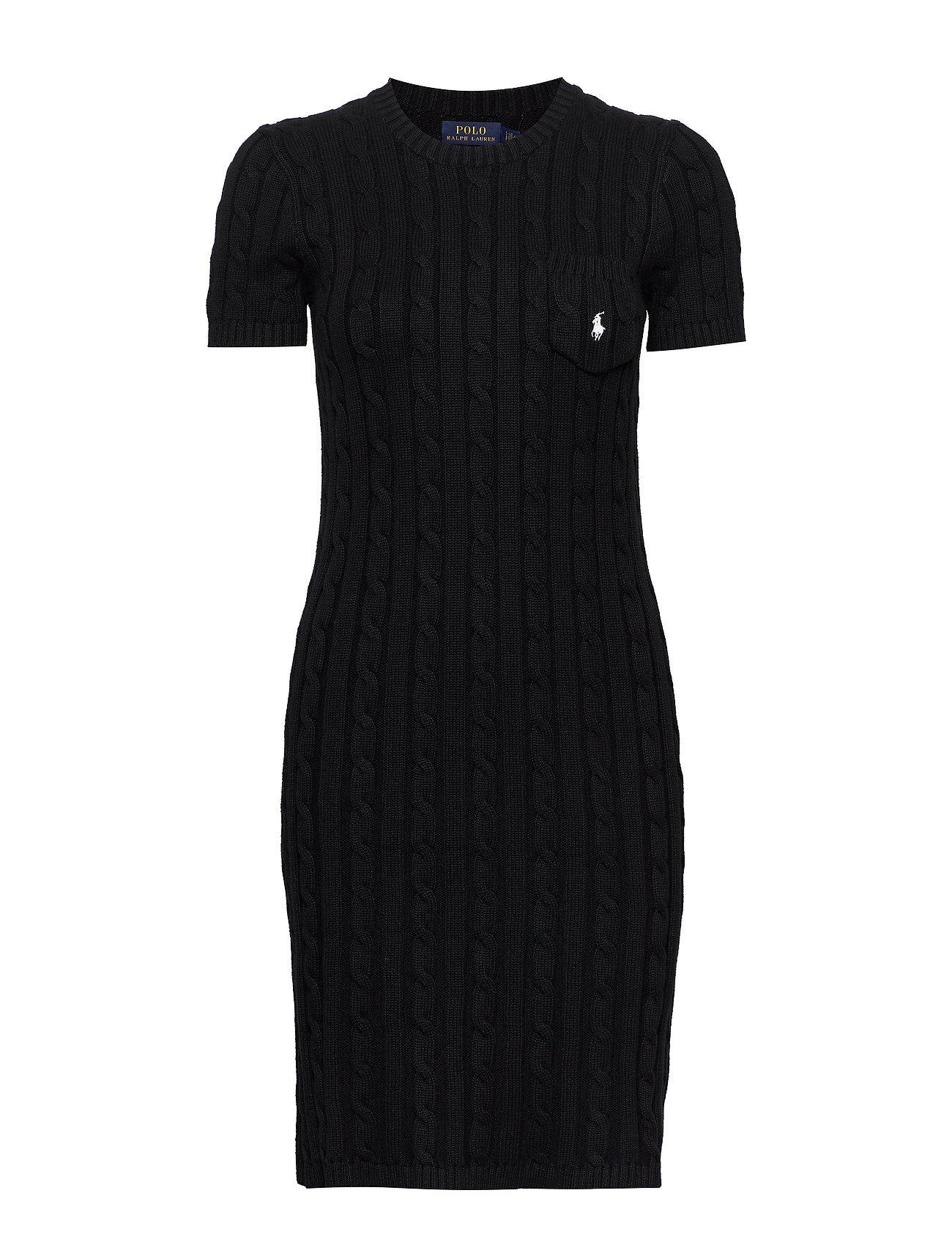 Polo Ralph Lauren Cable-Knit Cotton Dress - POLO BLACK