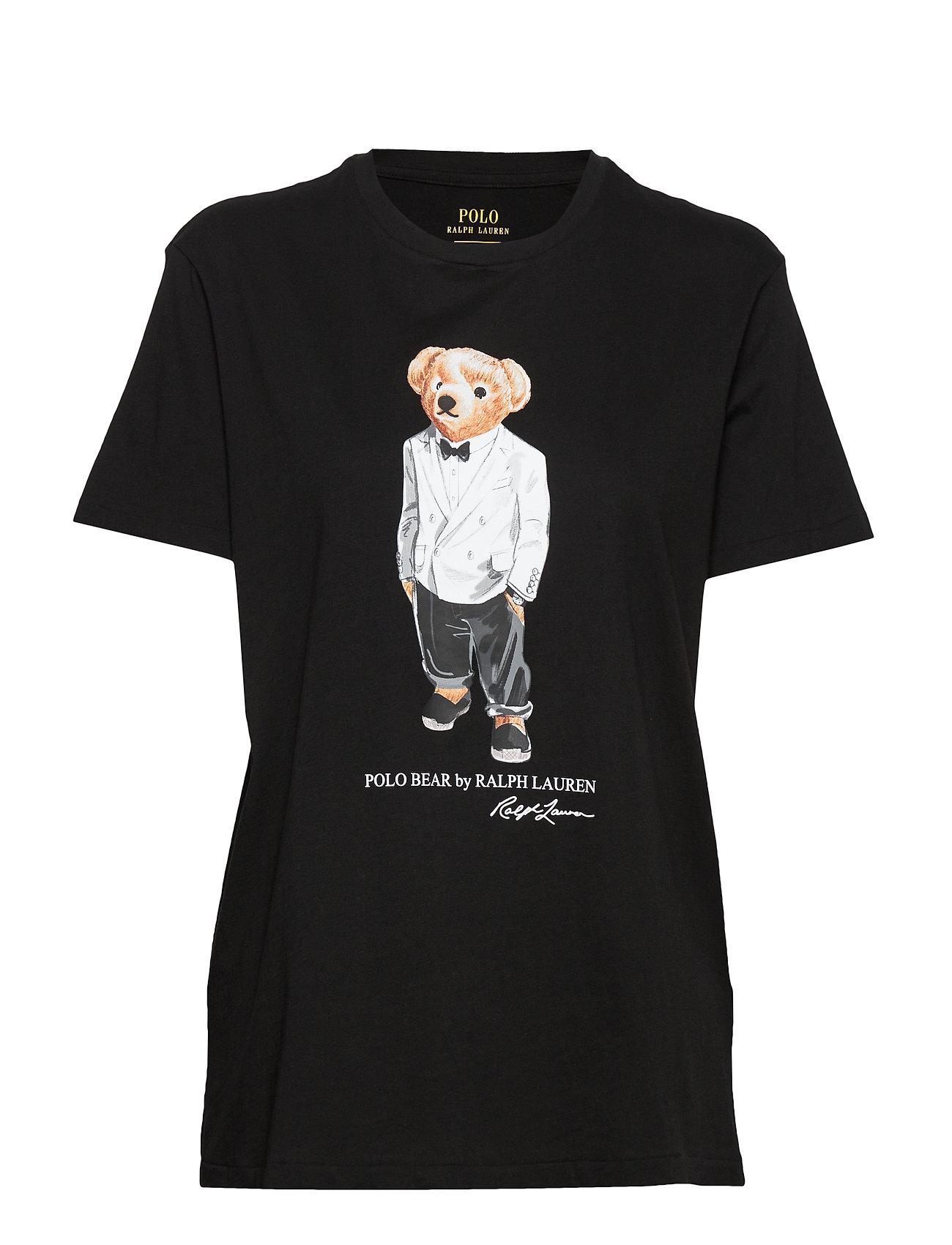 Polo Ralph Lauren Big Fit Tuxedo Polo Bear Tee - POLO BLACK