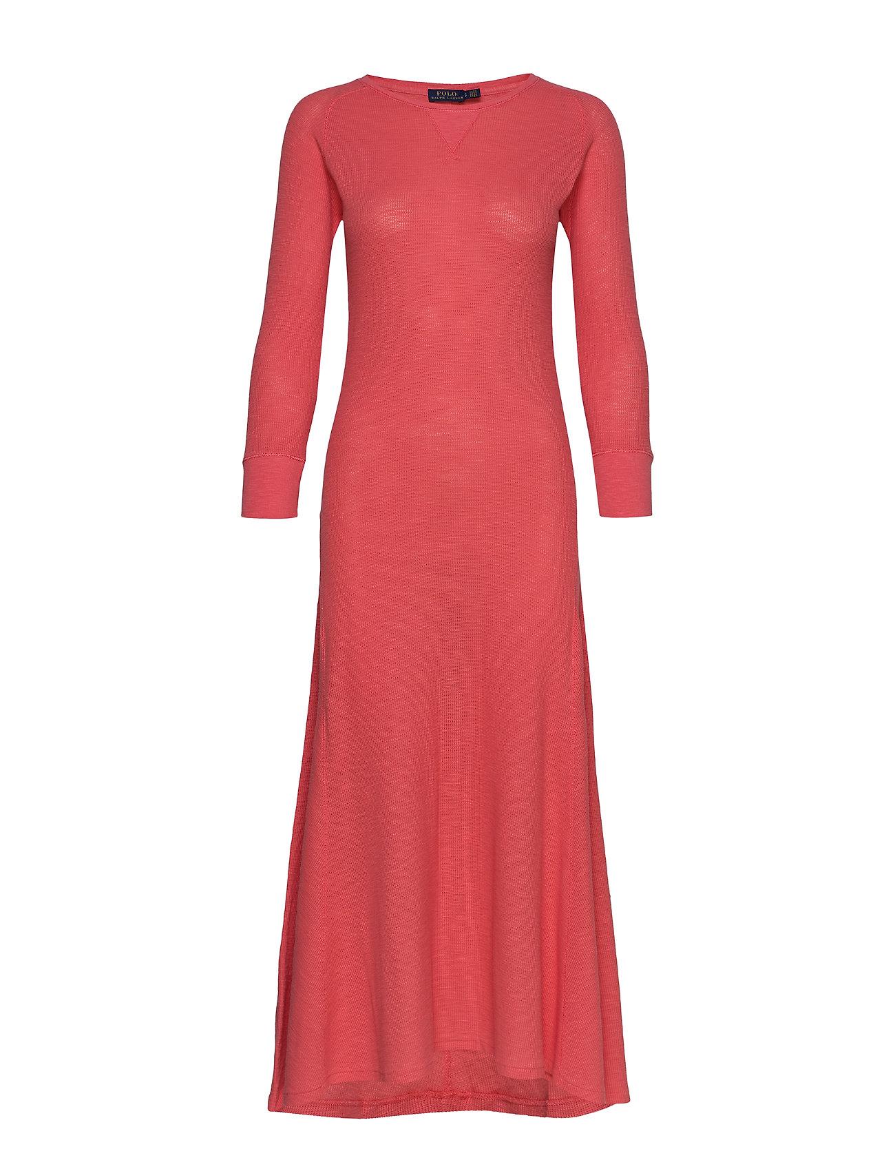 Polo Ralph Lauren Waffle-Knit Henley Dress - AMALFI RED