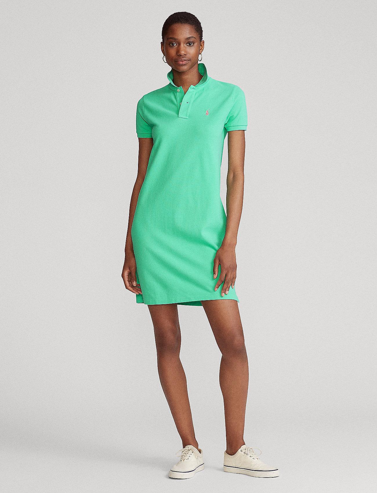 Polo Ralph Lauren - Cotton Polo Dress - hverdagskjoler - sunset green/c312 - 0
