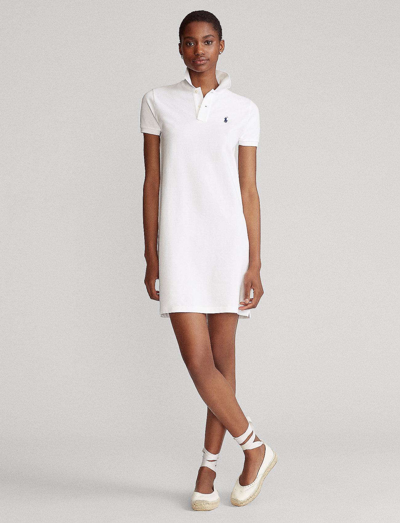 Polo Ralph Lauren - Cotton Polo Dress - hverdagskjoler - white/c7916 - 0