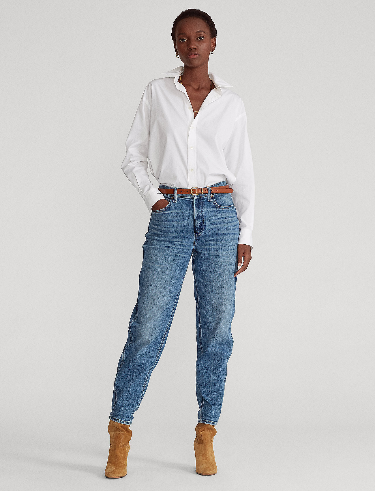 Polo Ralph Lauren - Hudson Jean - mom jeans - medium indigo - 0