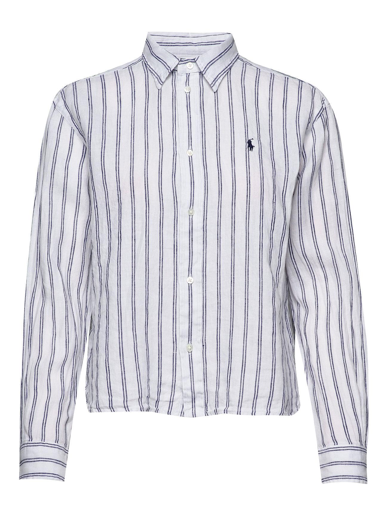 Polo Ralph Lauren Striped Linen Shirt - 780 WHITE/ROYAL B