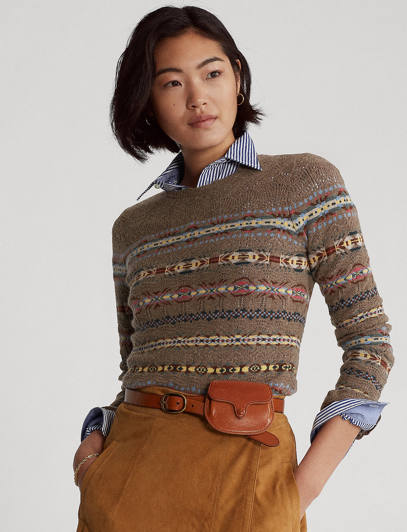 Polo Ralph Lauren - Fair Isle Crewneck Sweater - jumpers - tan multi - 0