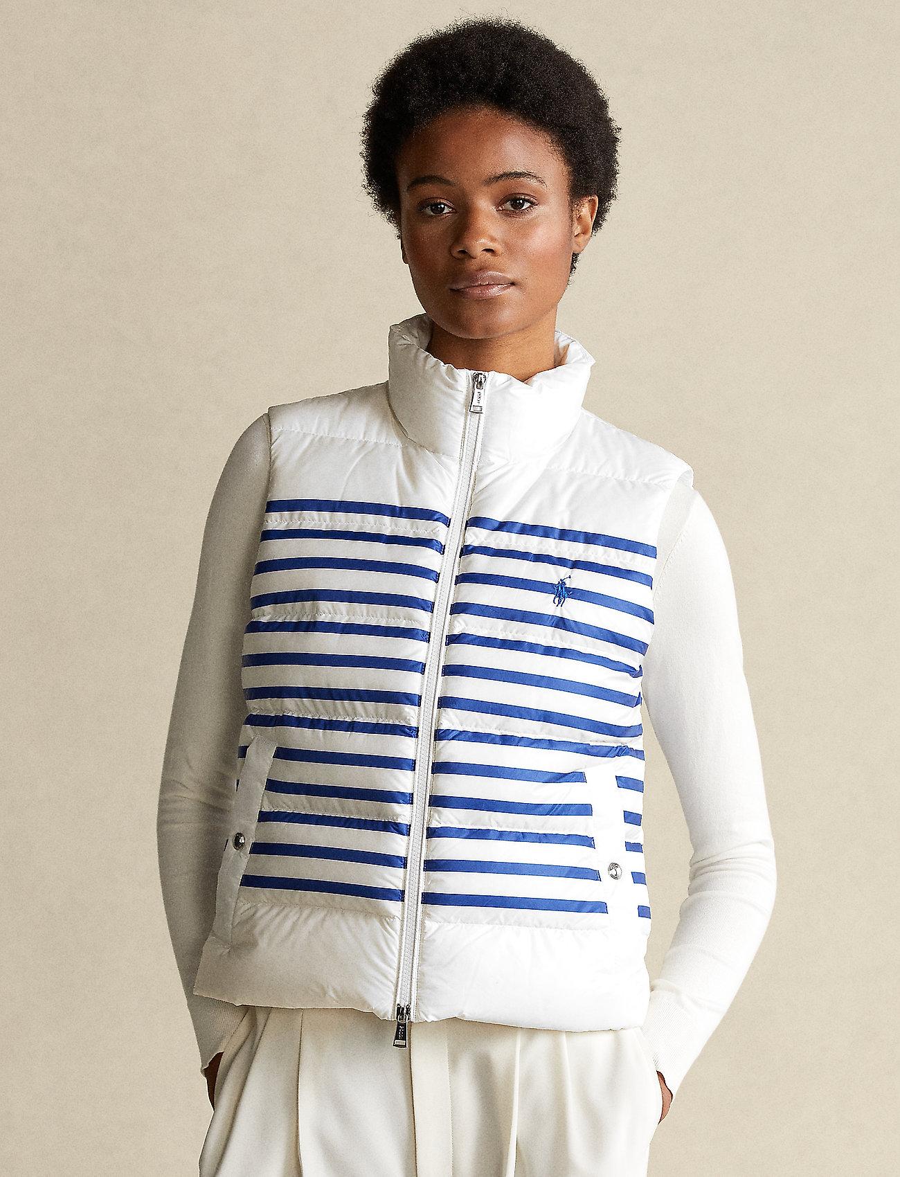 Polo Ralph Lauren - Belmont Striped Down-Filled Vest - puffer vests - white/blue stripe - 0