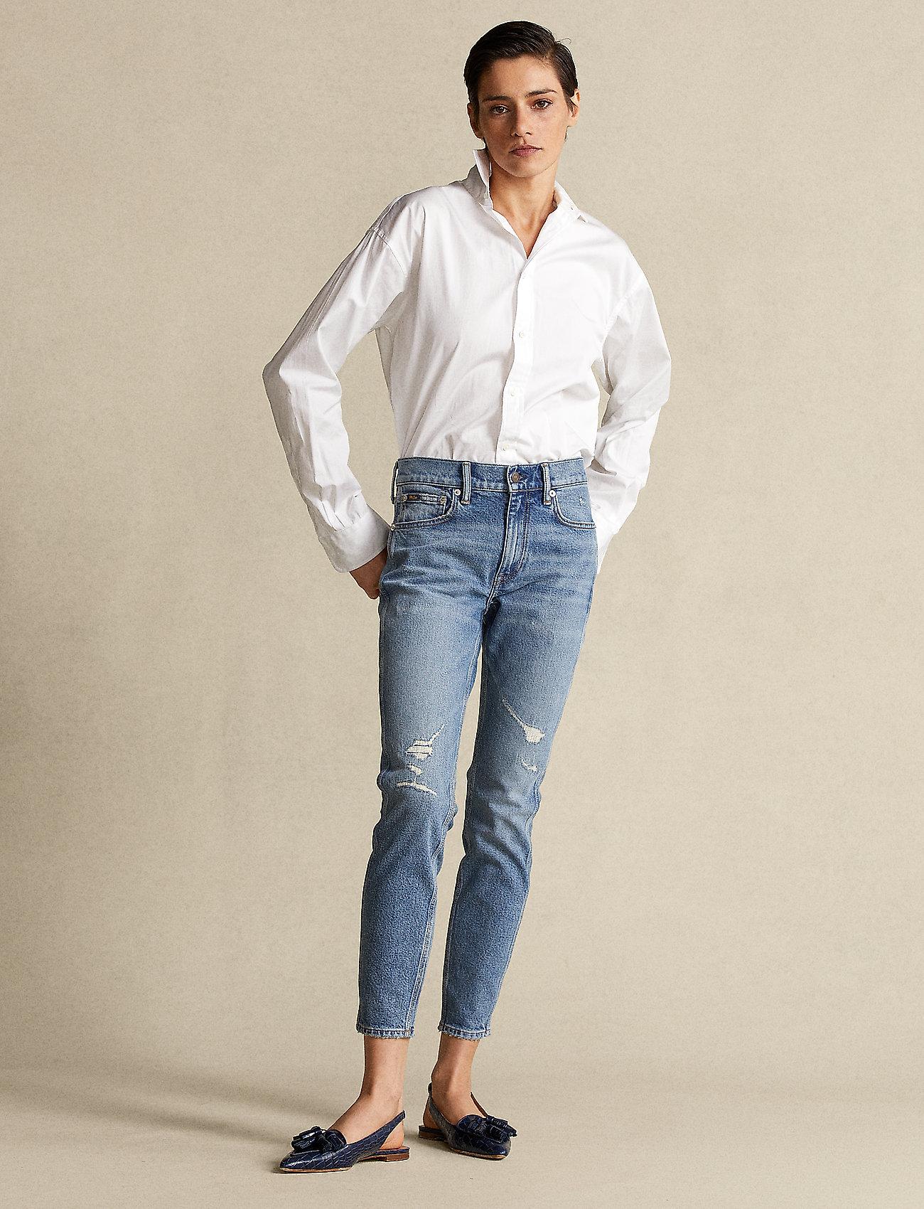 Polo Ralph Lauren - Tompkins Skinny Crop Jean - skinny jeans - medium indigo - 0