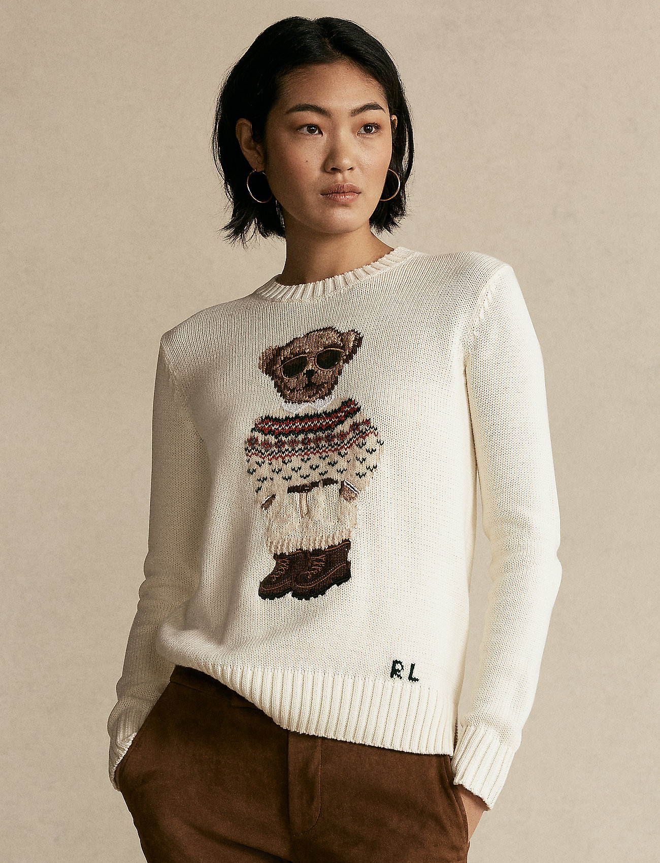 Polo Ralph Lauren - Polo Bear Crewneck Sweater - trøjer - cream multi - 0