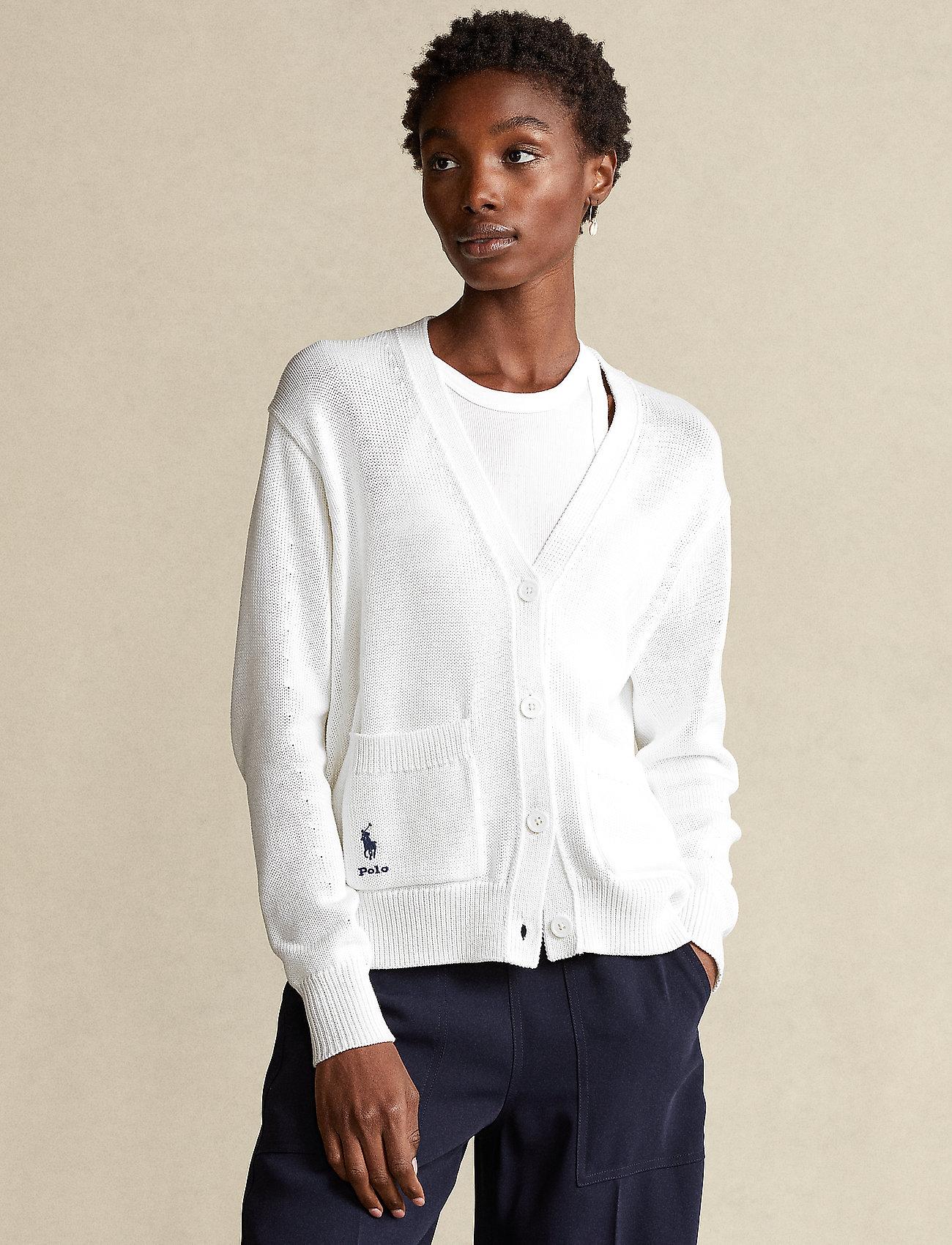 Polo Ralph Lauren - COTTON JERSEY-LSL-SWT - cardigans - white - 0