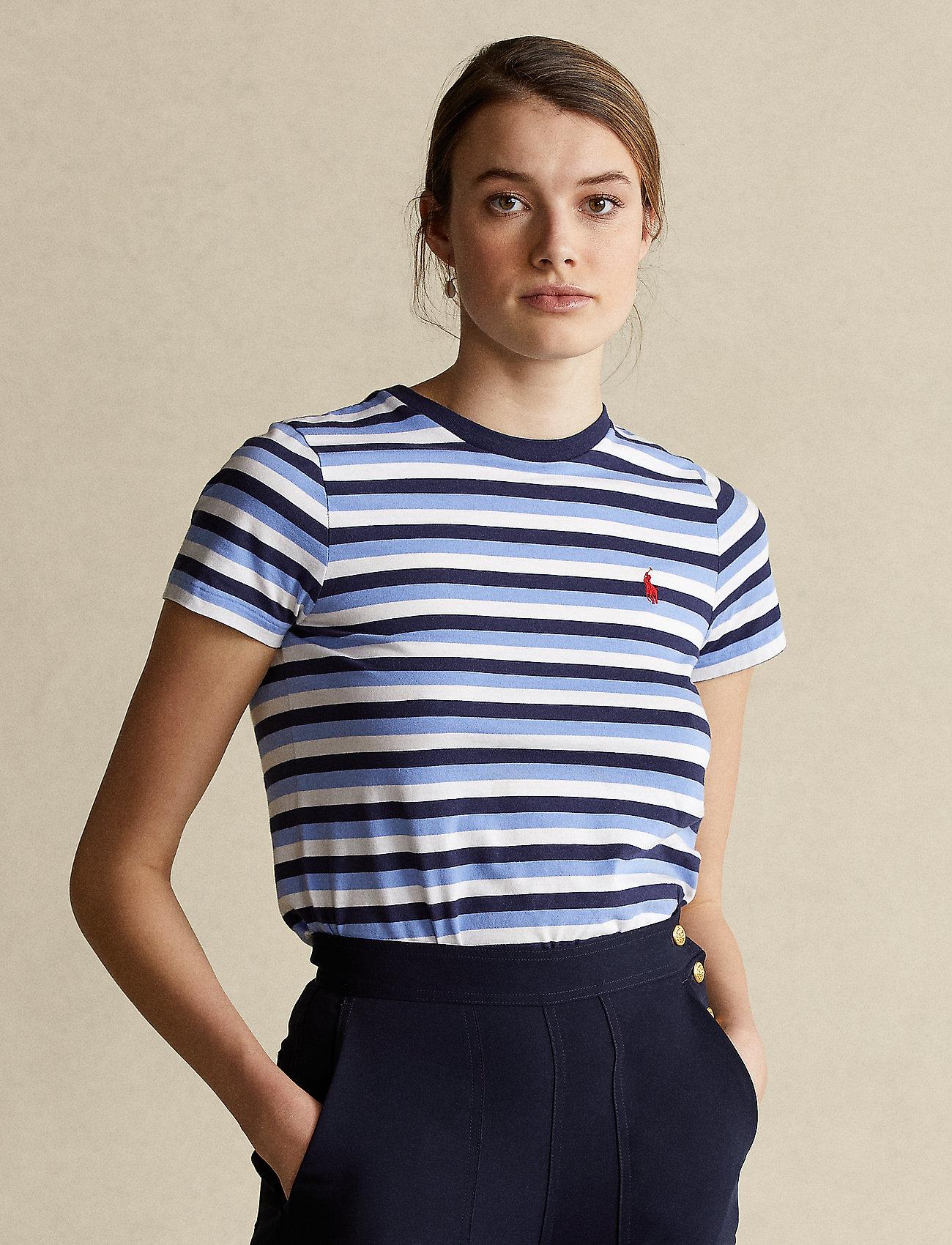 Polo Ralph Lauren - Striped Cotton Tee - t-shirts - blue/navy/white - 0