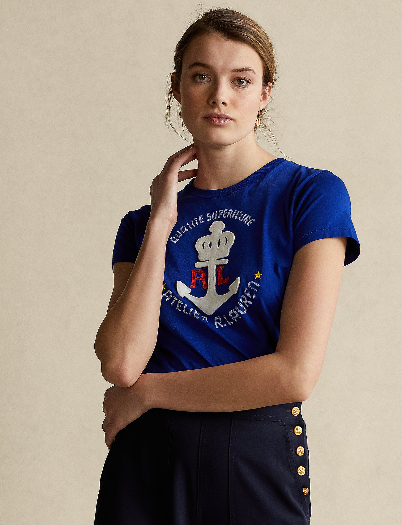 Polo Ralph Lauren - Anchor Graphic Cotton Tee - t-shirts - heritage royal - 0