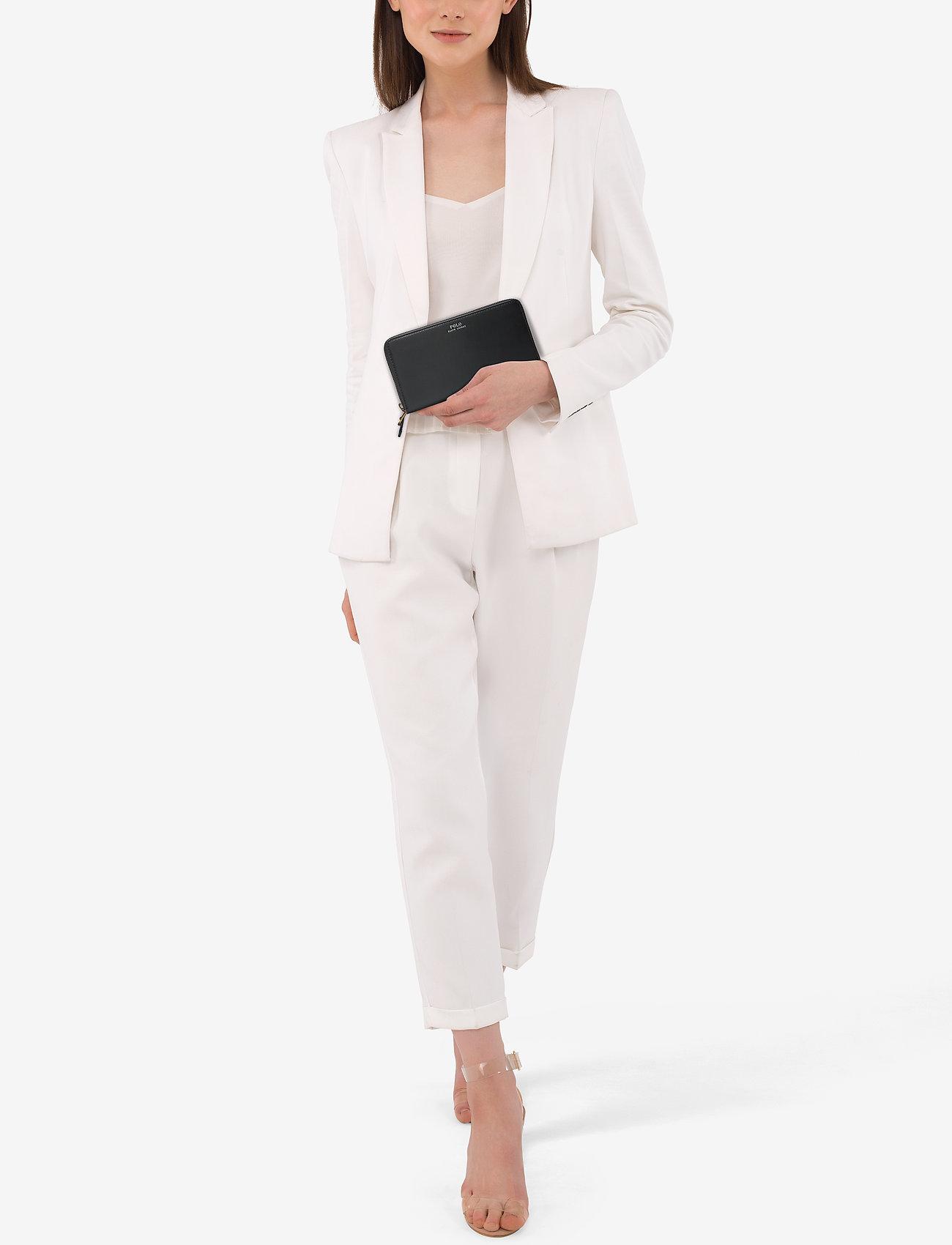 Polo Ralph Lauren Leather Zip-Around Wallet - BLACK