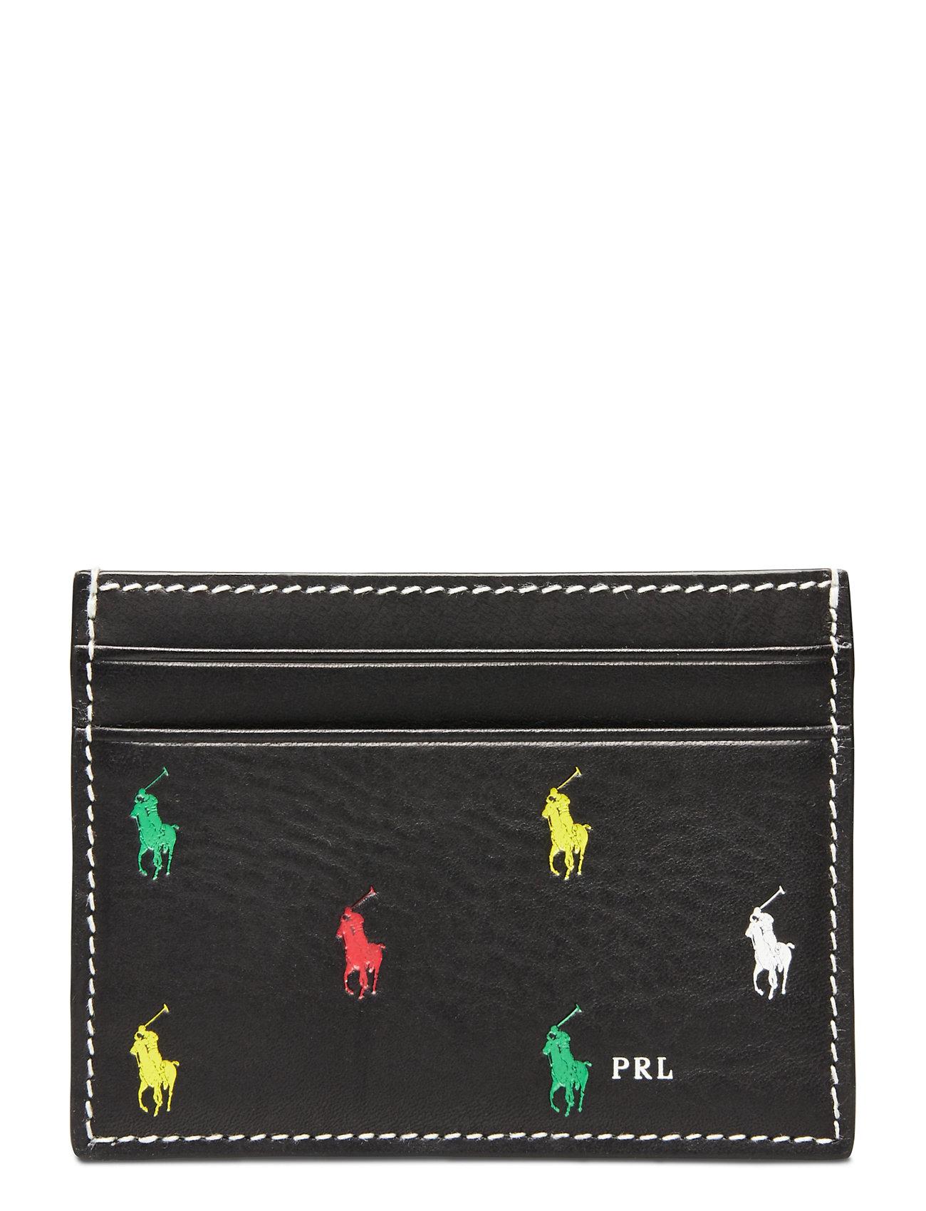 Polo Ralph Lauren Leather Pony Card Case - BLACK MULTI