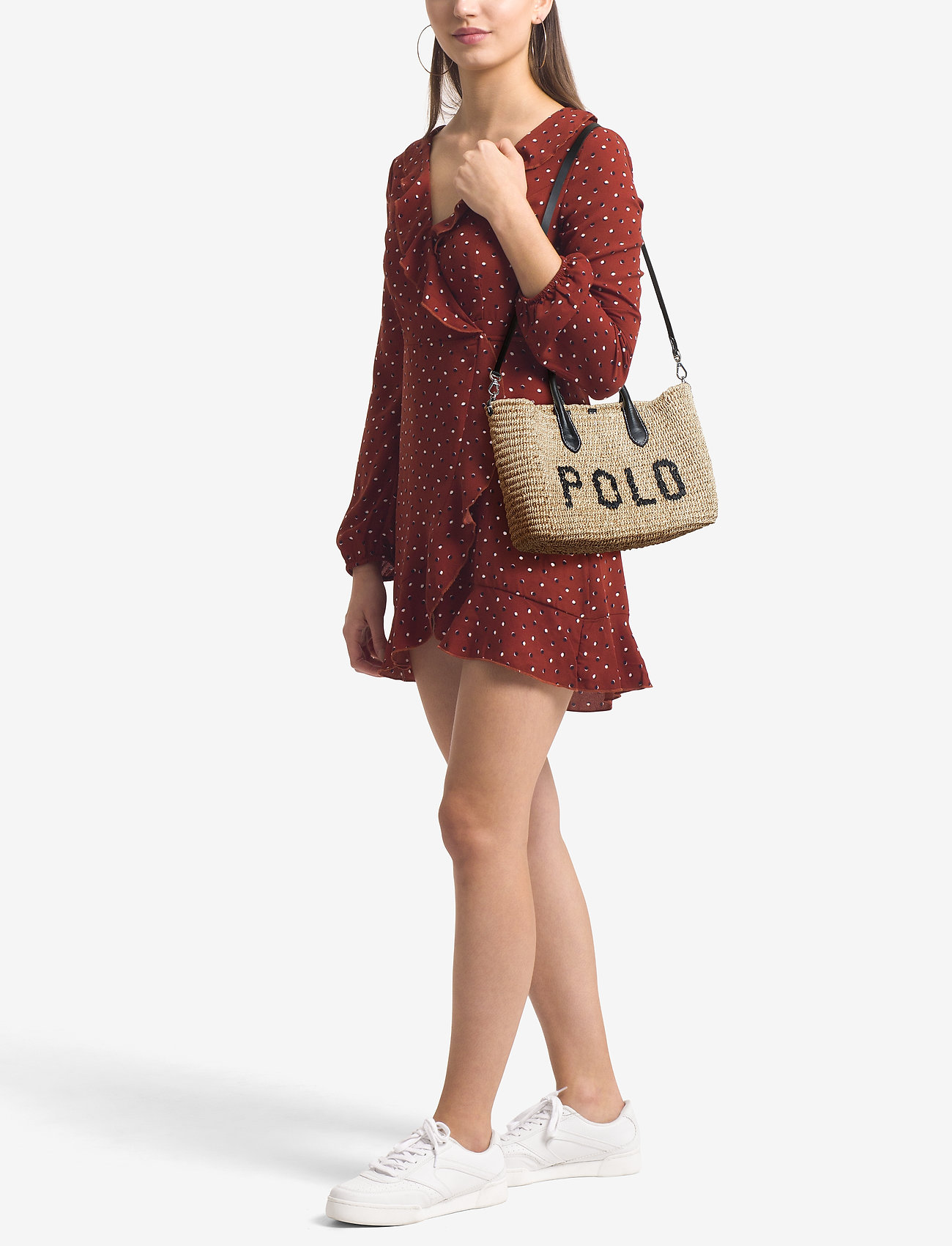Polo Ralph Lauren STRAW/LEATHER-STRCTRD BSKT-TTE-SMA