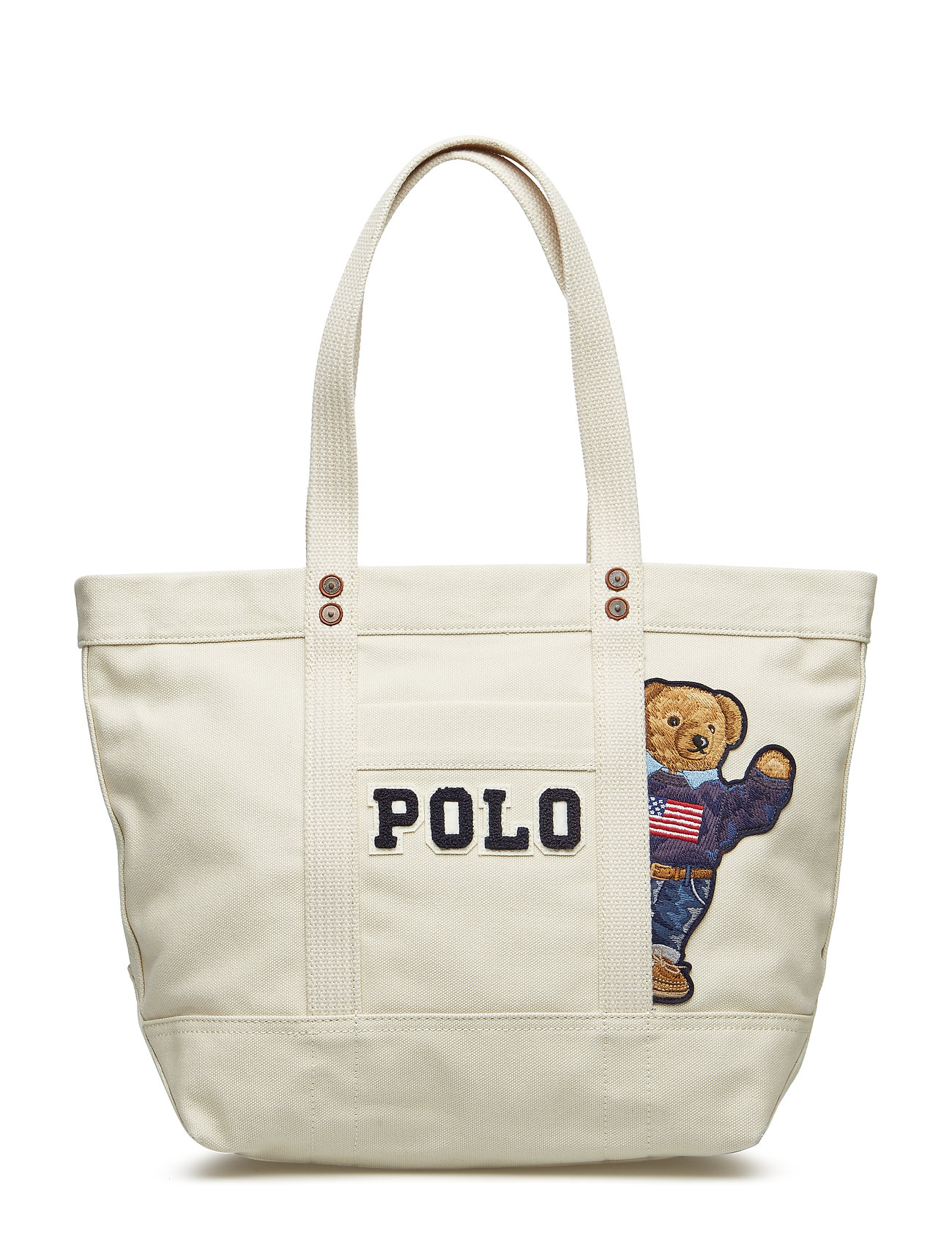 62d0b8db4d4 Canvas Bear-pp Tote-tte-med (Cream) (169.95 €) - Polo Ralph Lauren ...