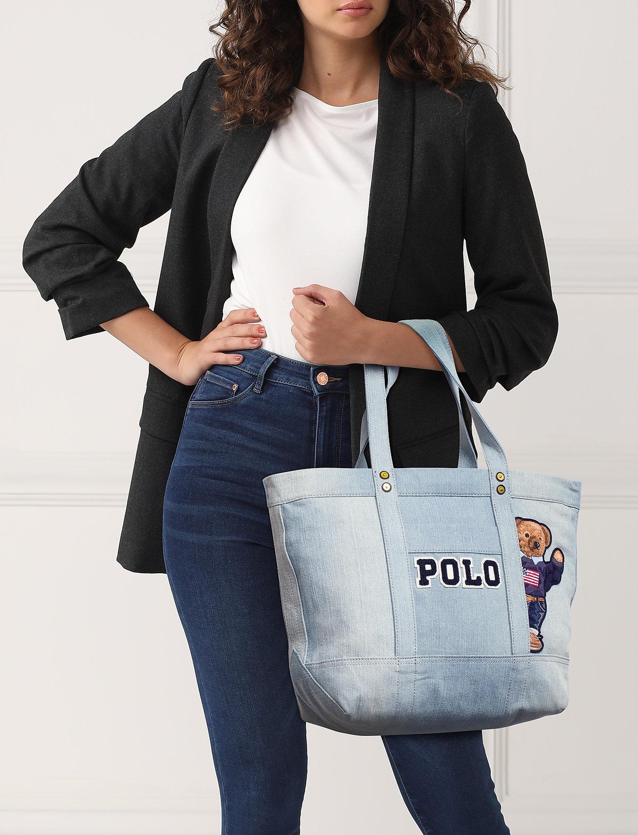 Polo Ralph Lauren Canvas Polo Bear Tote Bag - DENIM